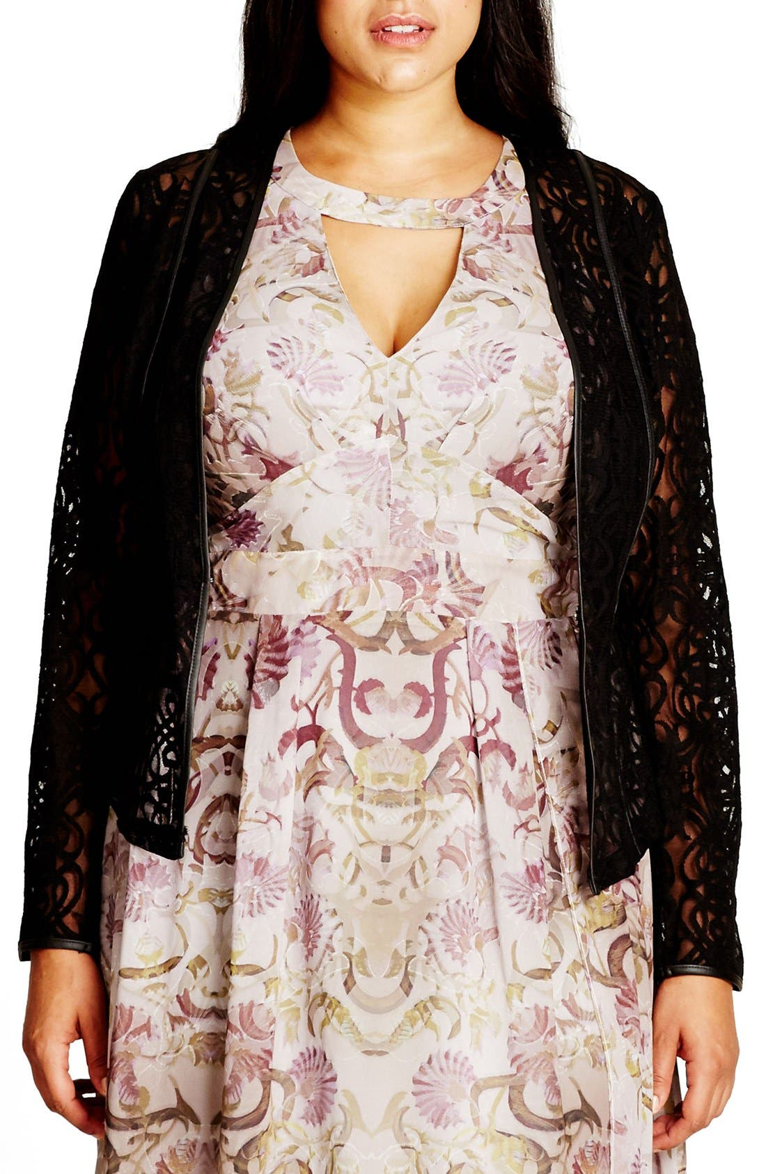 City Chic Elegant Lace Jacket (Plus Size)