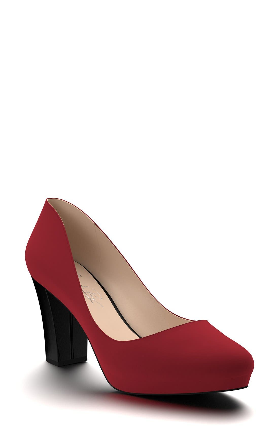 SHOES OF PREY Block Heel Platform Pump