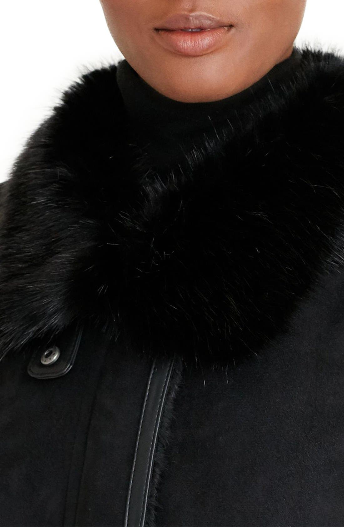 Alternate Image 3  - Lauren Ralph Lauren Faux Shearling Coat