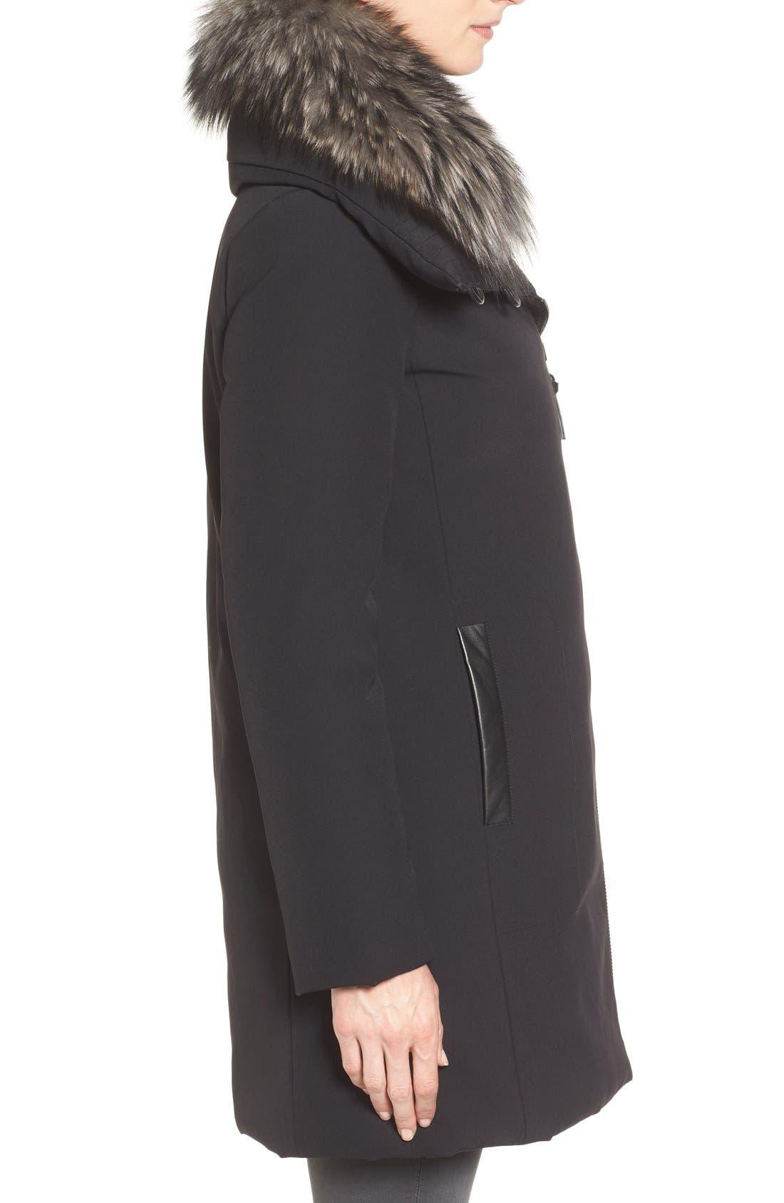 Alternate Image 3  - Derek Lam 10 Crosby Water Resistant Down Parka with Genuine Fox Fur Collar