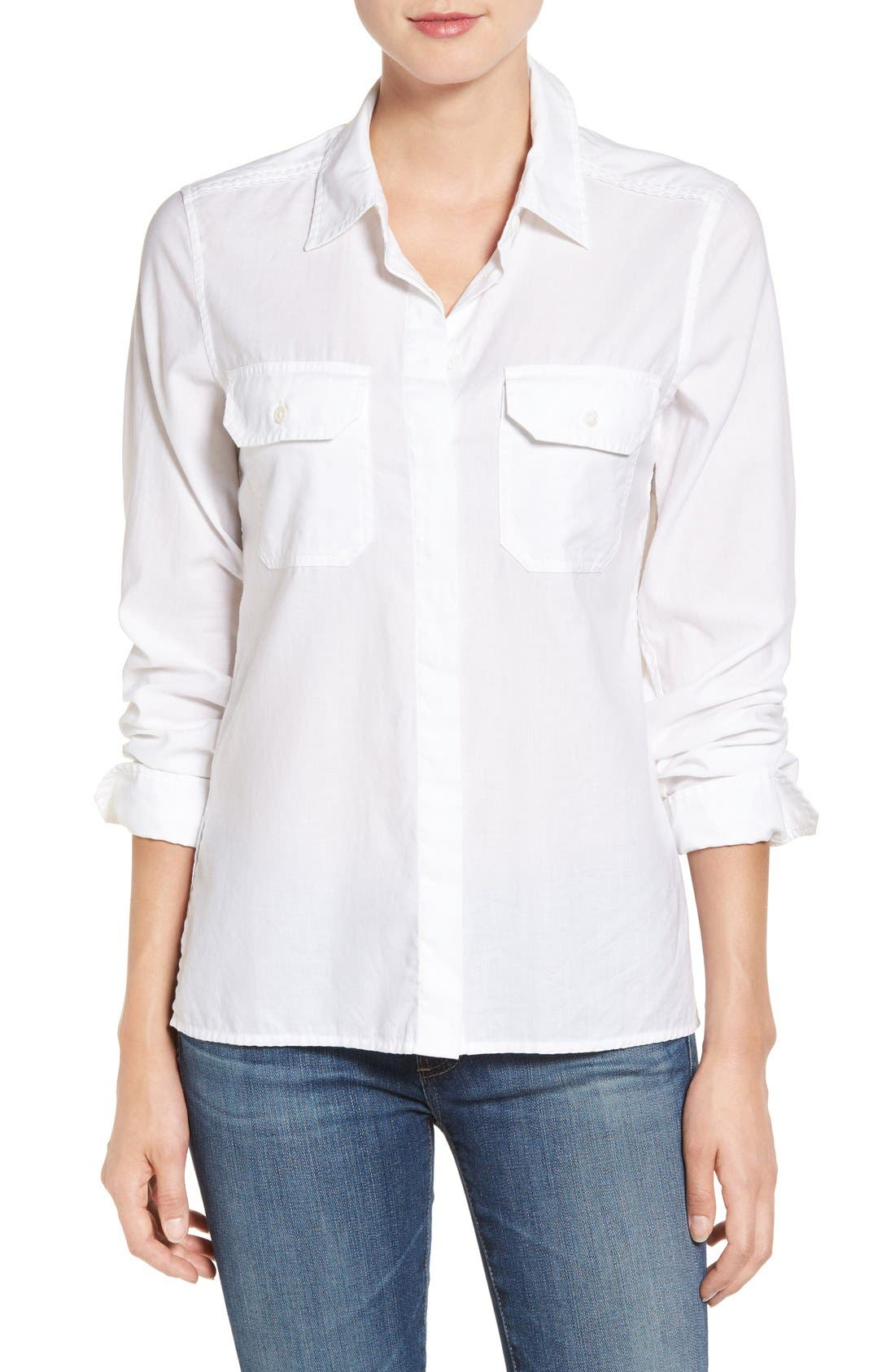 AG Ace Split Hem Cotton Shirt