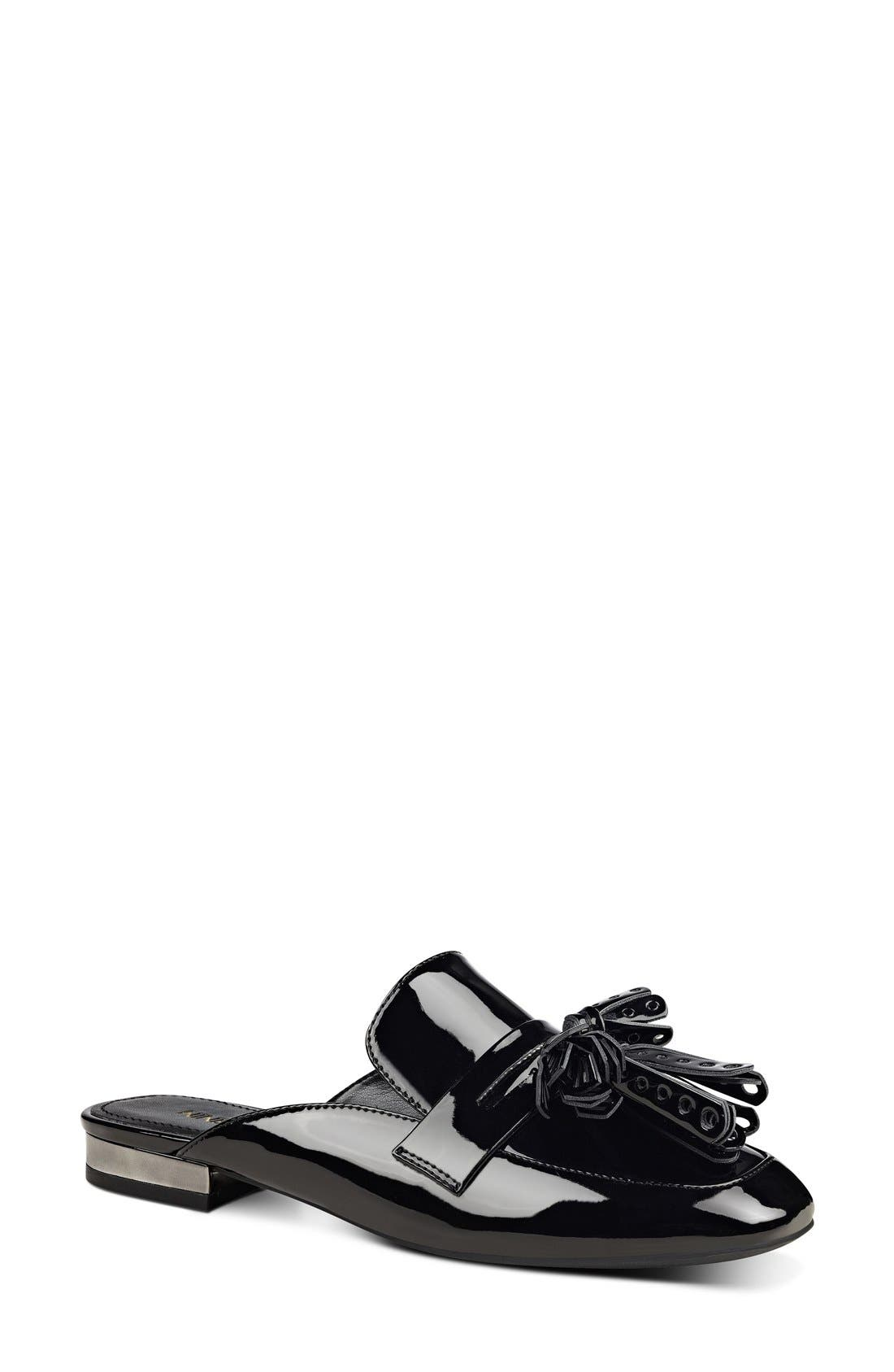 Alternate Image 1 Selected - Nine West 'Xenisa' Flat Loafer Mule (Women)
