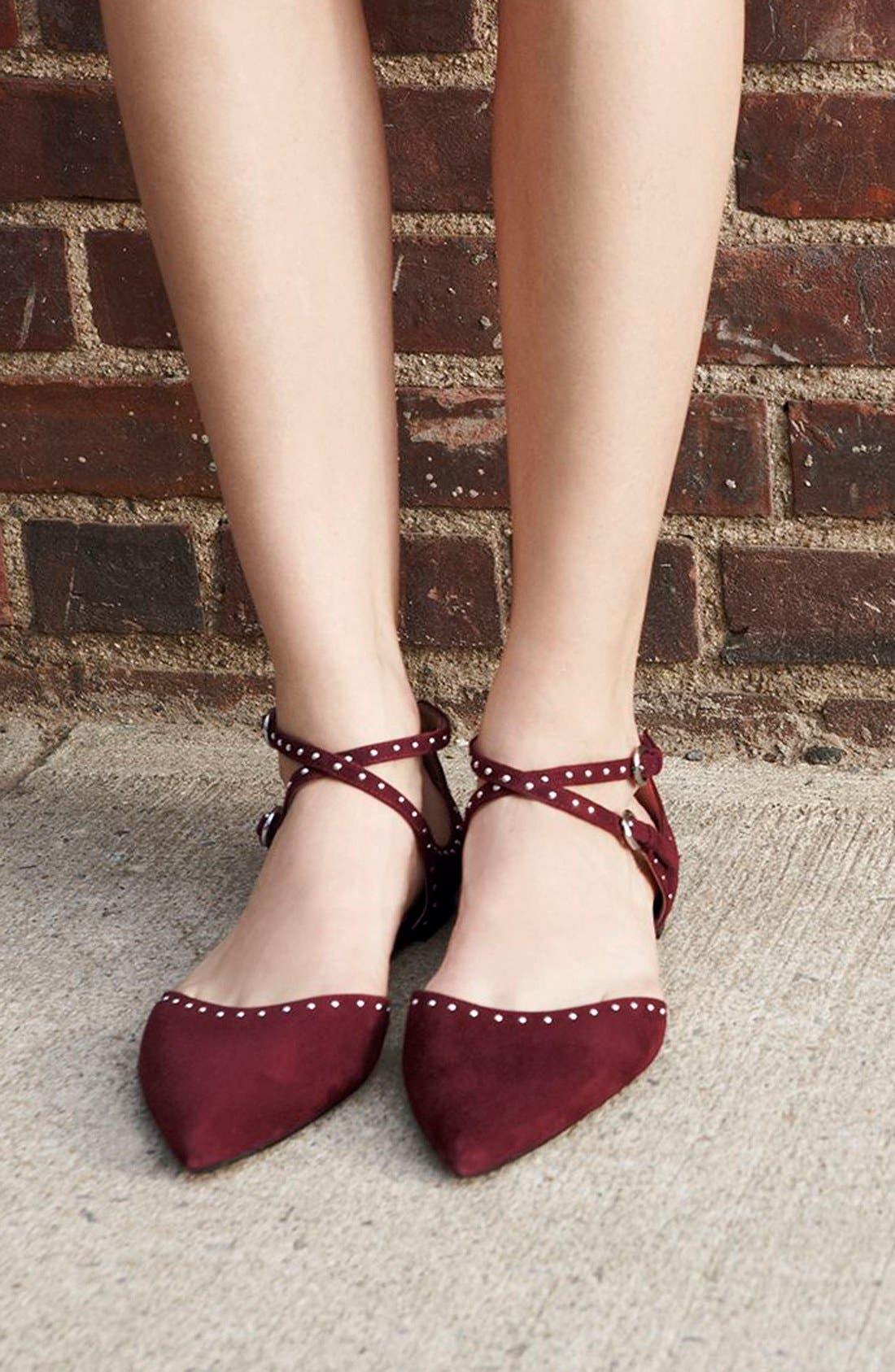 Alternate Image 6  - Halogen® 'Bristal' Ankle Strap Pointy Toe Flat (Women)