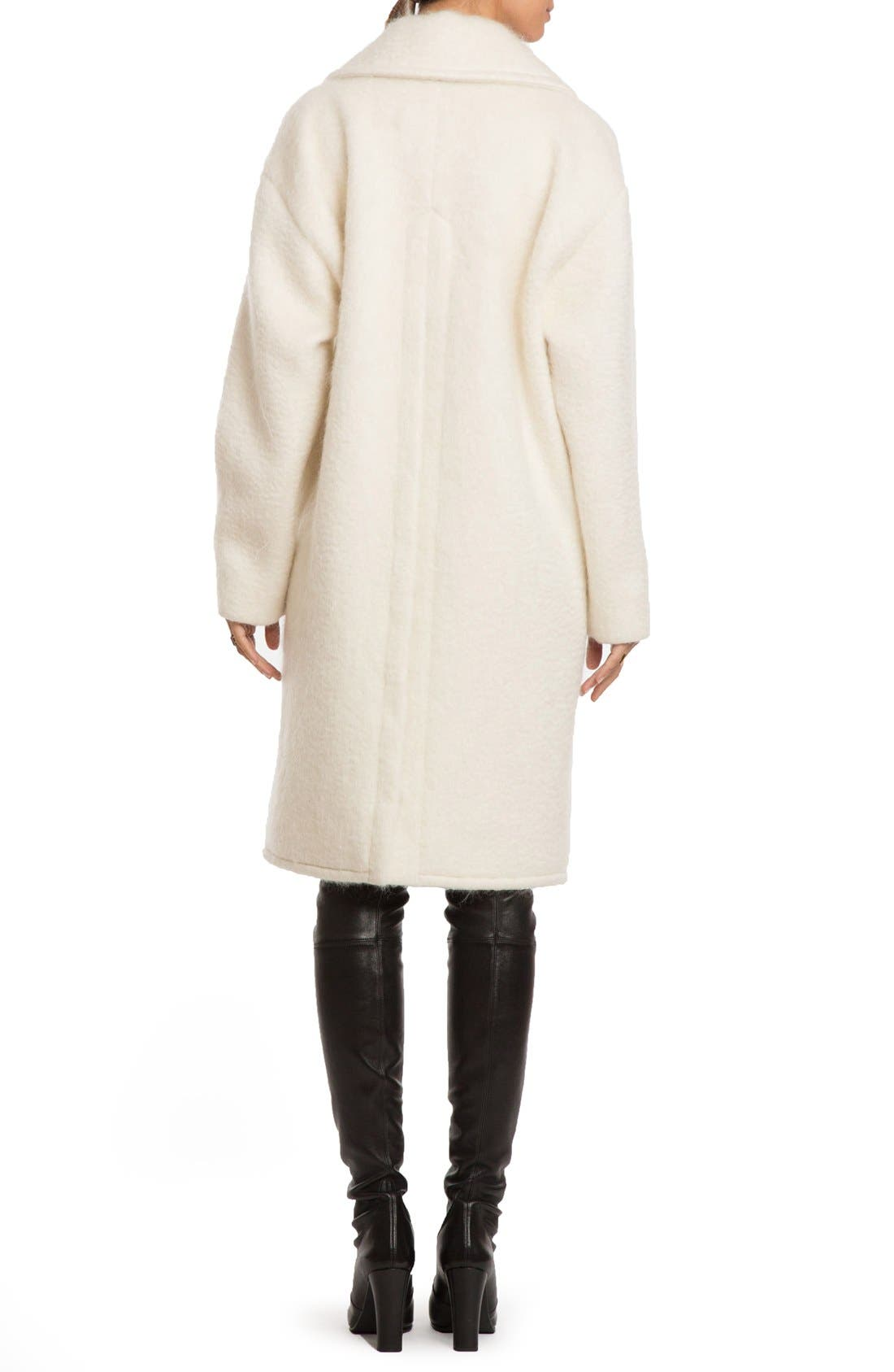 Alternate Image 2  - Badgley Mischka 'Jenna' Snap Back Cocoon Coat