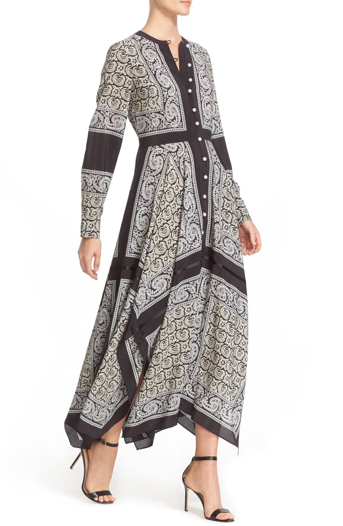 Alternate Image 6  - Altuzarra Paisley Print Handkerchief Hem Silk Dress
