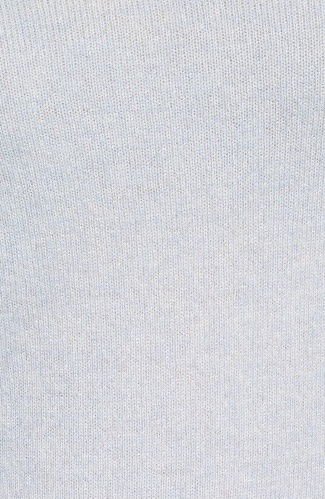 Alternate Image 5  - Halogen® Cashmere V-Neck Sweater (Regular & Petite)
