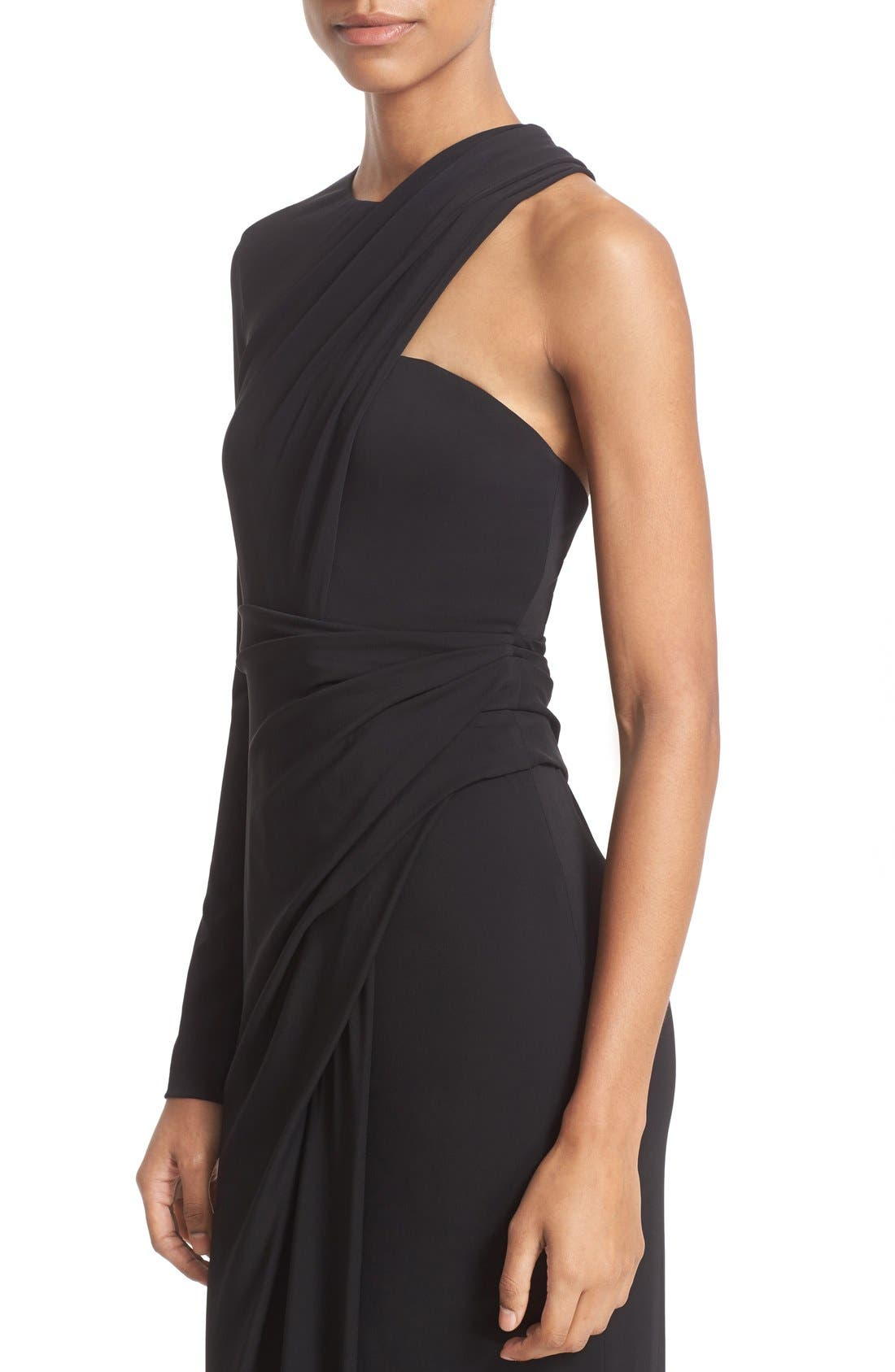 Alternate Image 6  - Alexander Wang Draped Asymmetrical One-Sleeve Gown