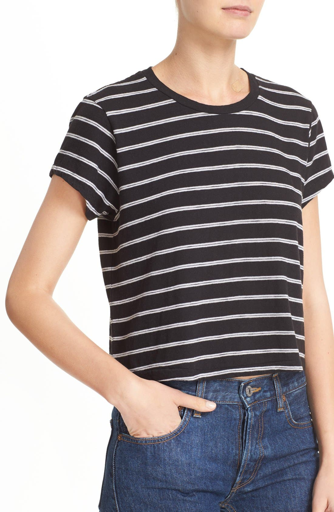 Alternate Image 4  - Re/Done 'Originals' Stripe Boxy Cotton Tee