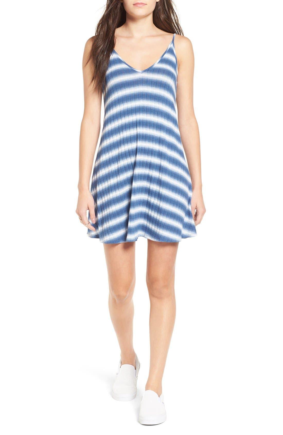 Main Image - Soprano Stripe Swing Dress
