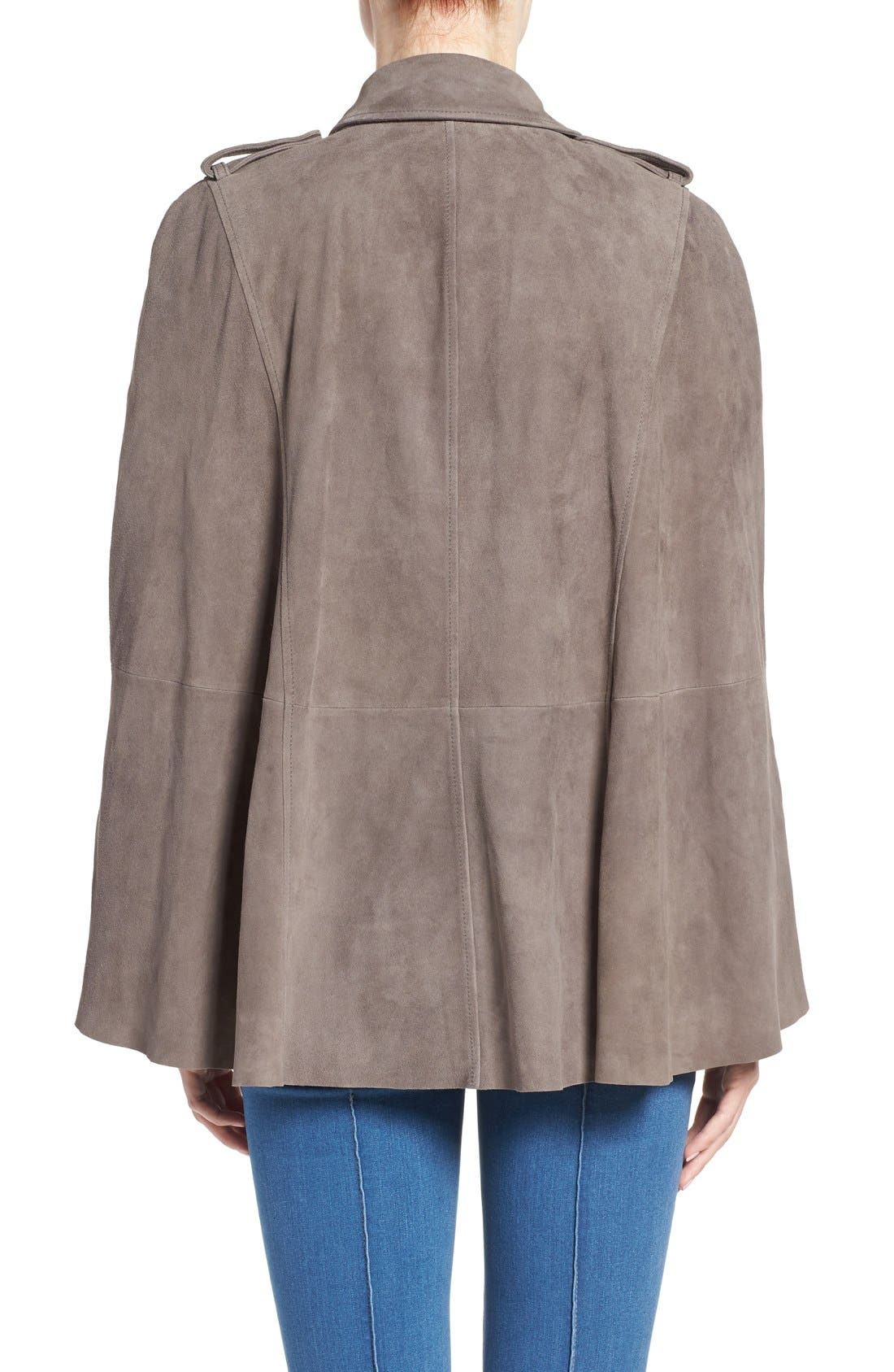 Alternate Image 3  - Olivia Palermo + Chelsea28 Suede Trench Vest with Removable Cape