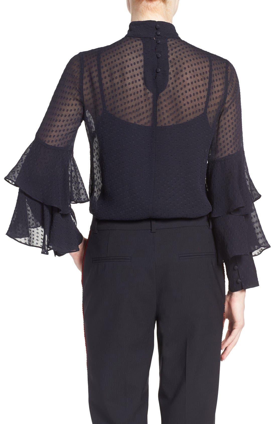 Alternate Image 3  - Olivia Palermo + Chelsea28 Tiered Sleeve Silk Top