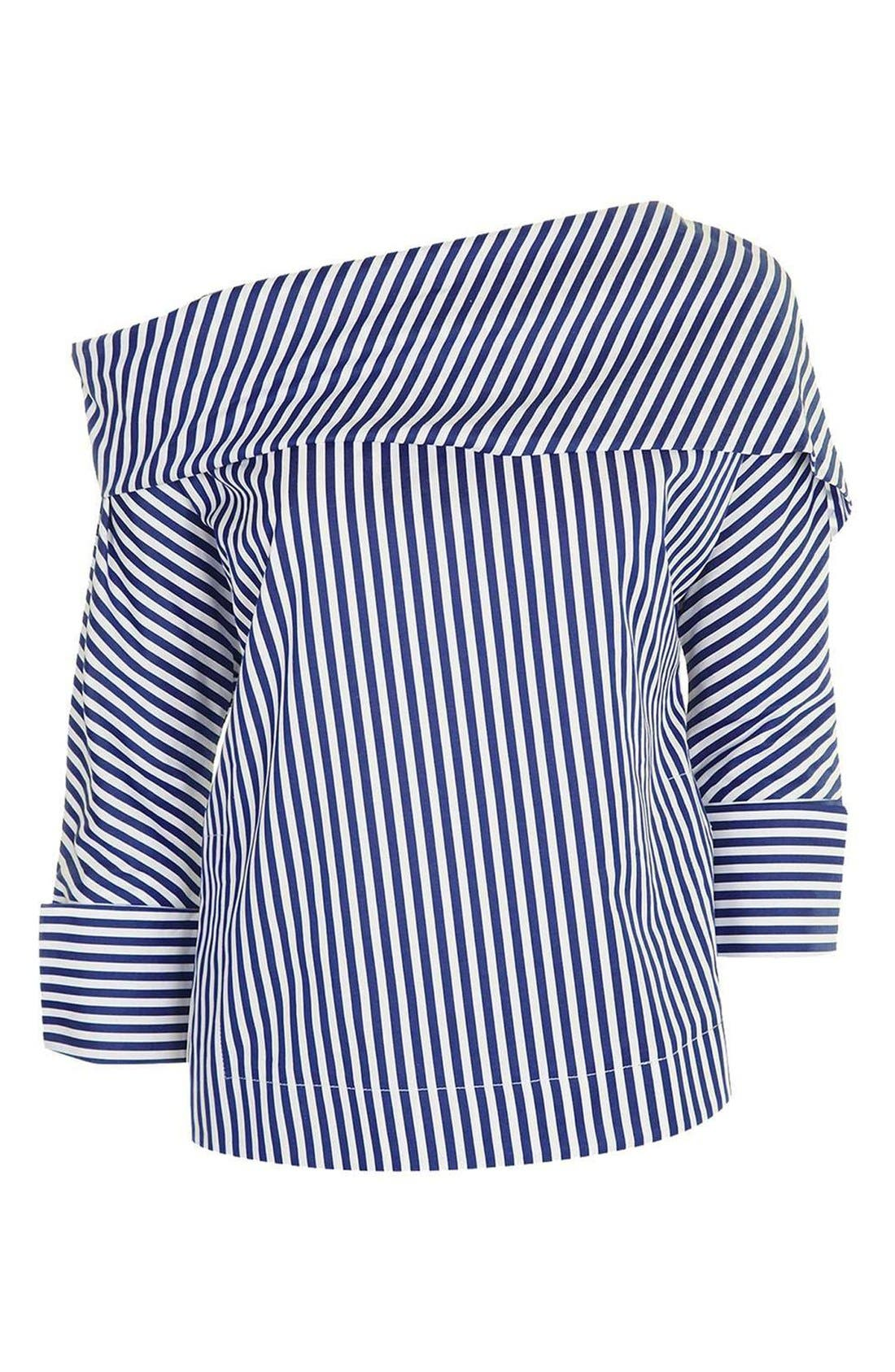 Alternate Image 4  - Topshop Boutique Stripe Twist Top