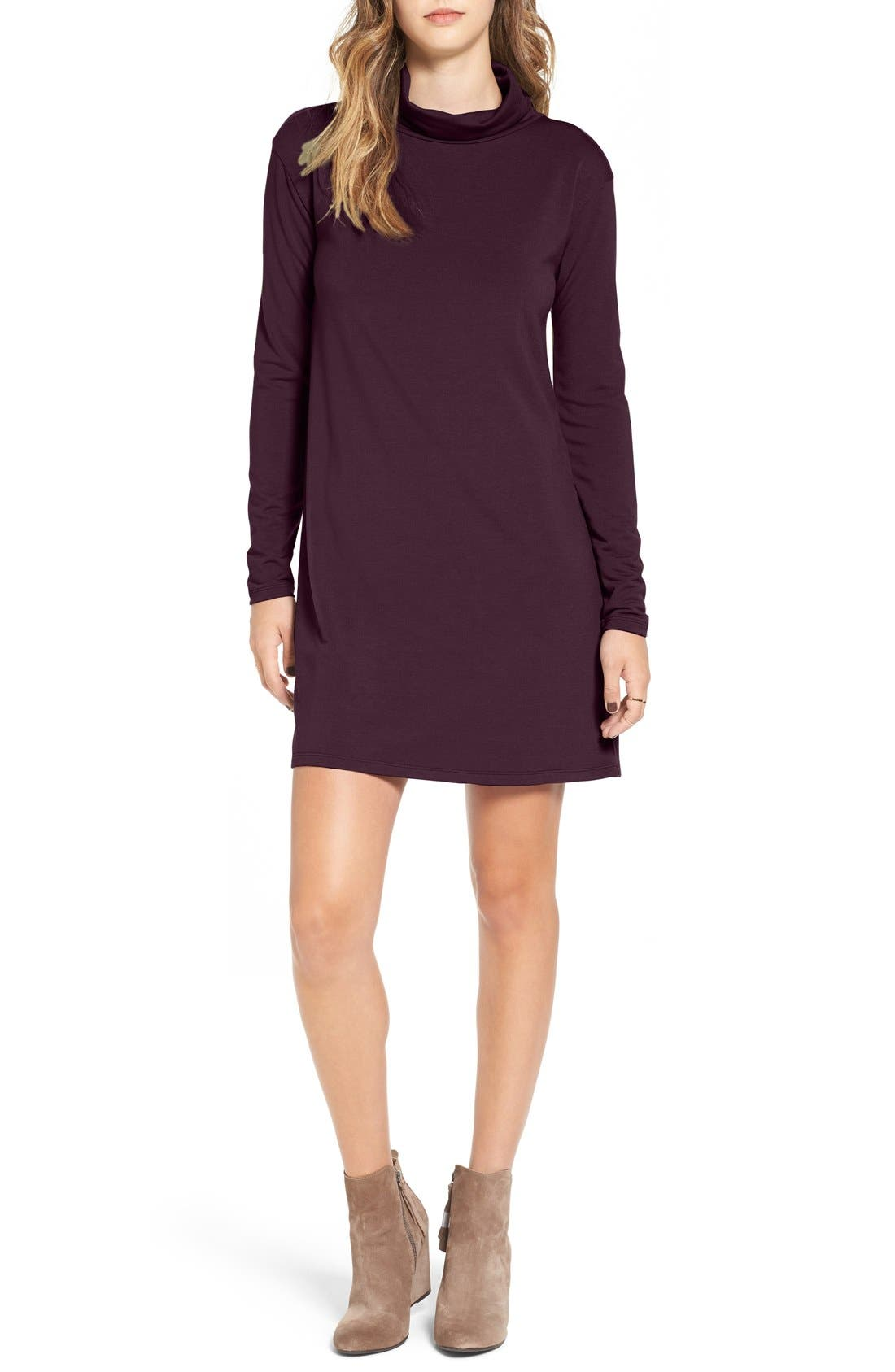 Main Image - BP. Turtleneck A-Line Dress