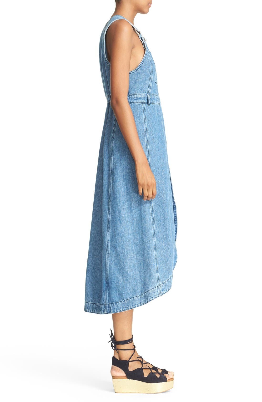 Alternate Image 3  - See by Chloé Denim Overall Dress