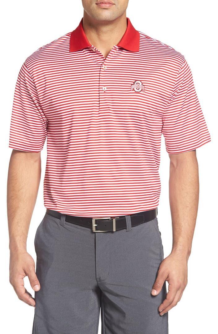 Peter millar 39 ohio state university 39 classic stripe golf for Peter millar golf shirts