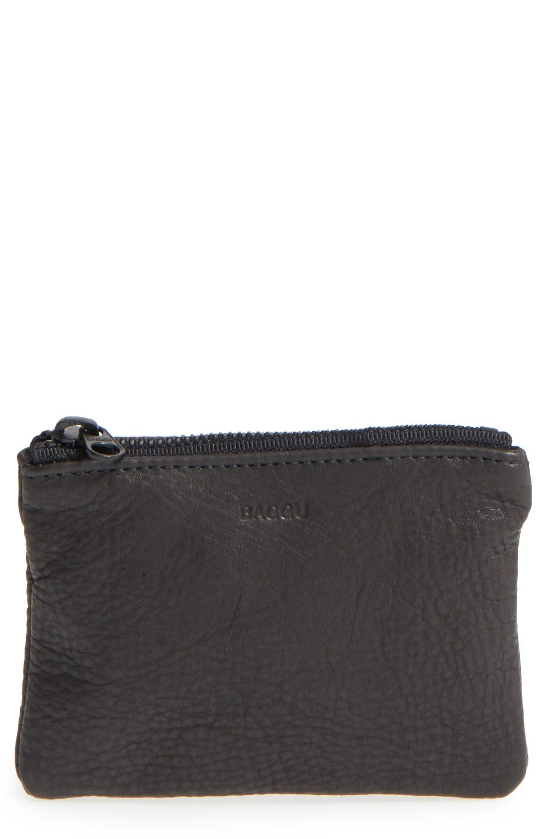 Baggu Leather Zip Pouch