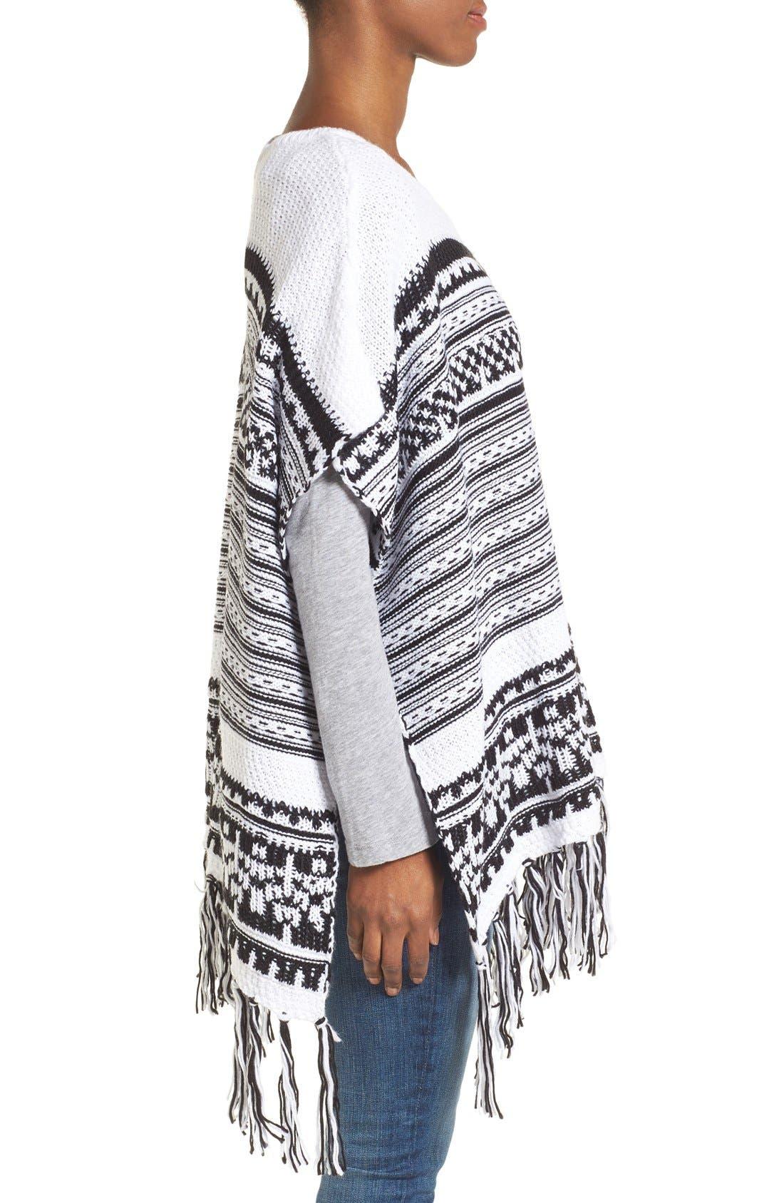 Alternate Image 3  - BCBGeneration Stripe Knit Poncho