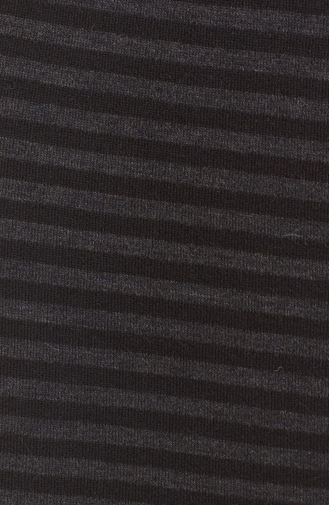 Alternate Image 5  - Eileen Fisher Merino Wool Blend Double Knit Stripe Pencil Skirt (Regular & Petite)