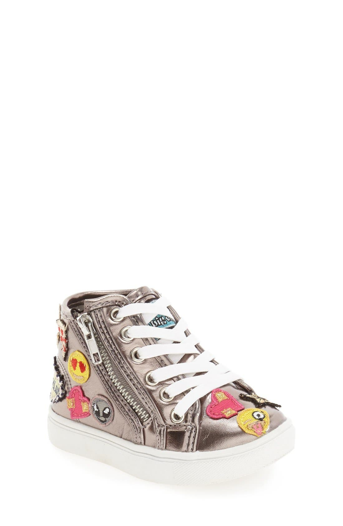 Steve Madden 'Tcobrah' Emoji High Top Sneaker (Toddler)