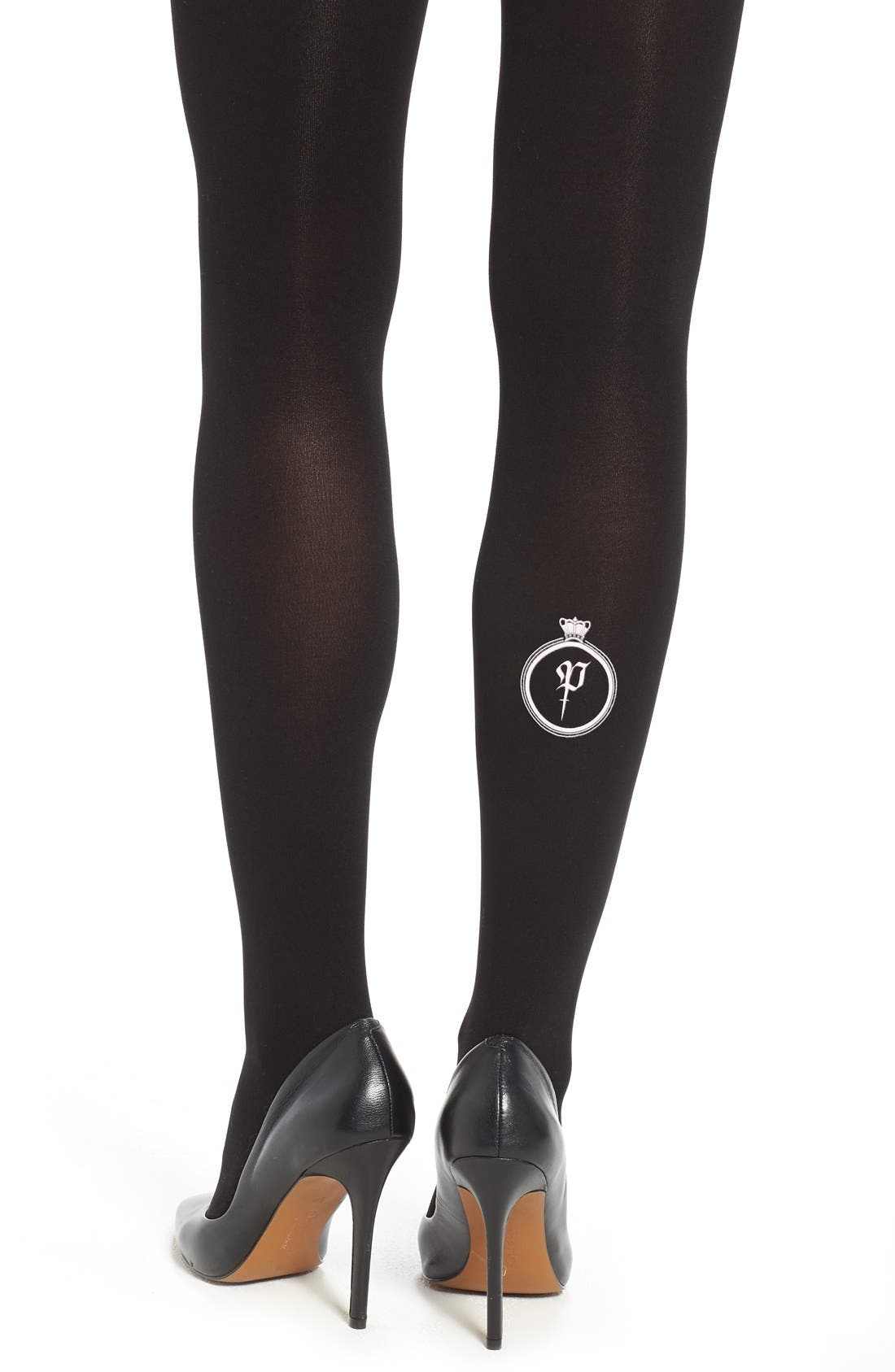 Alternate Image 2  - Hue 'Parris' Opaque Tights