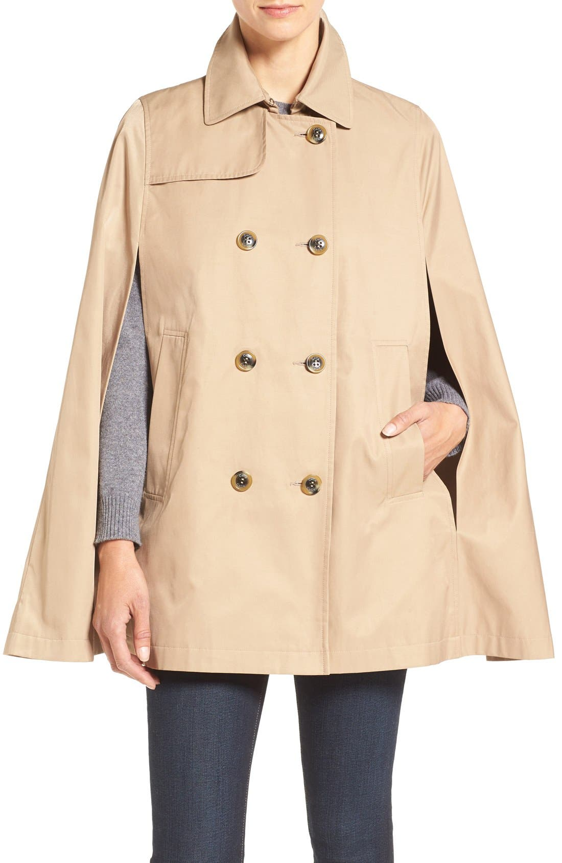 Alternate Image 1 Selected - CeCe Lily Trench Cape