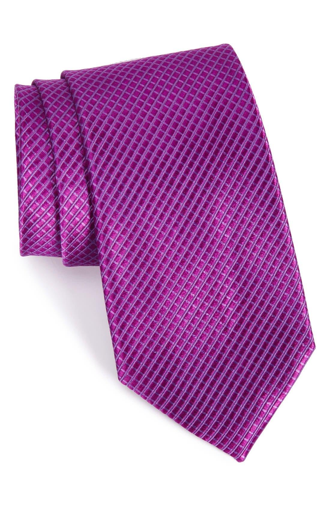 NORDSTROM MEN'S SHOP Micro Grid Silk Tie