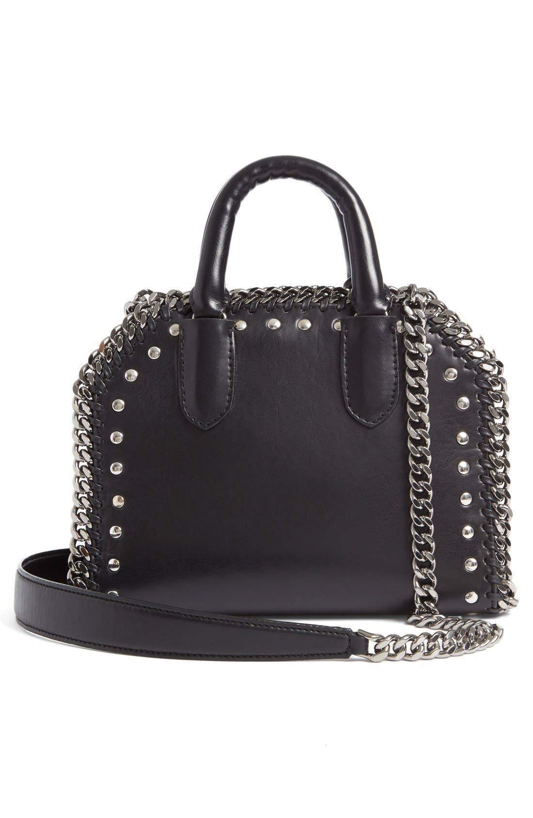 Alternate Image 2  - Stella McCartney Mini Falabella Embroidered Faux Leather Tote