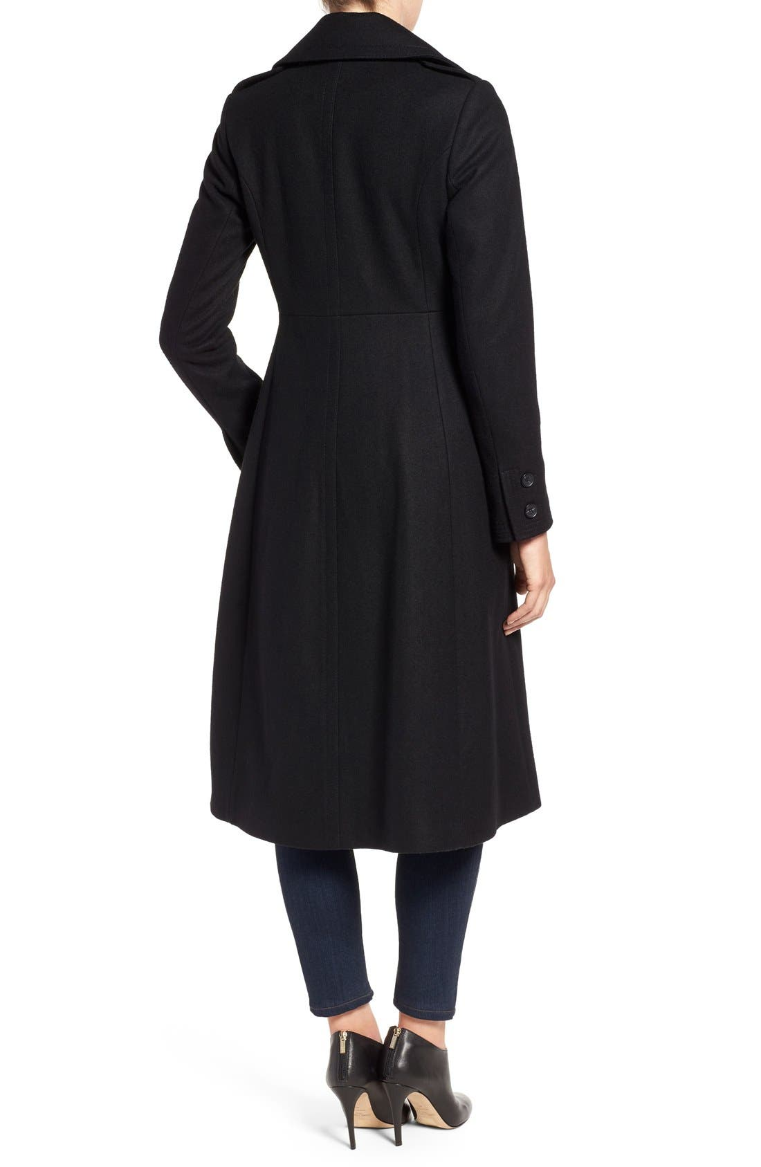 Alternate Image 2  - French Connection Long Wool Blend Coat