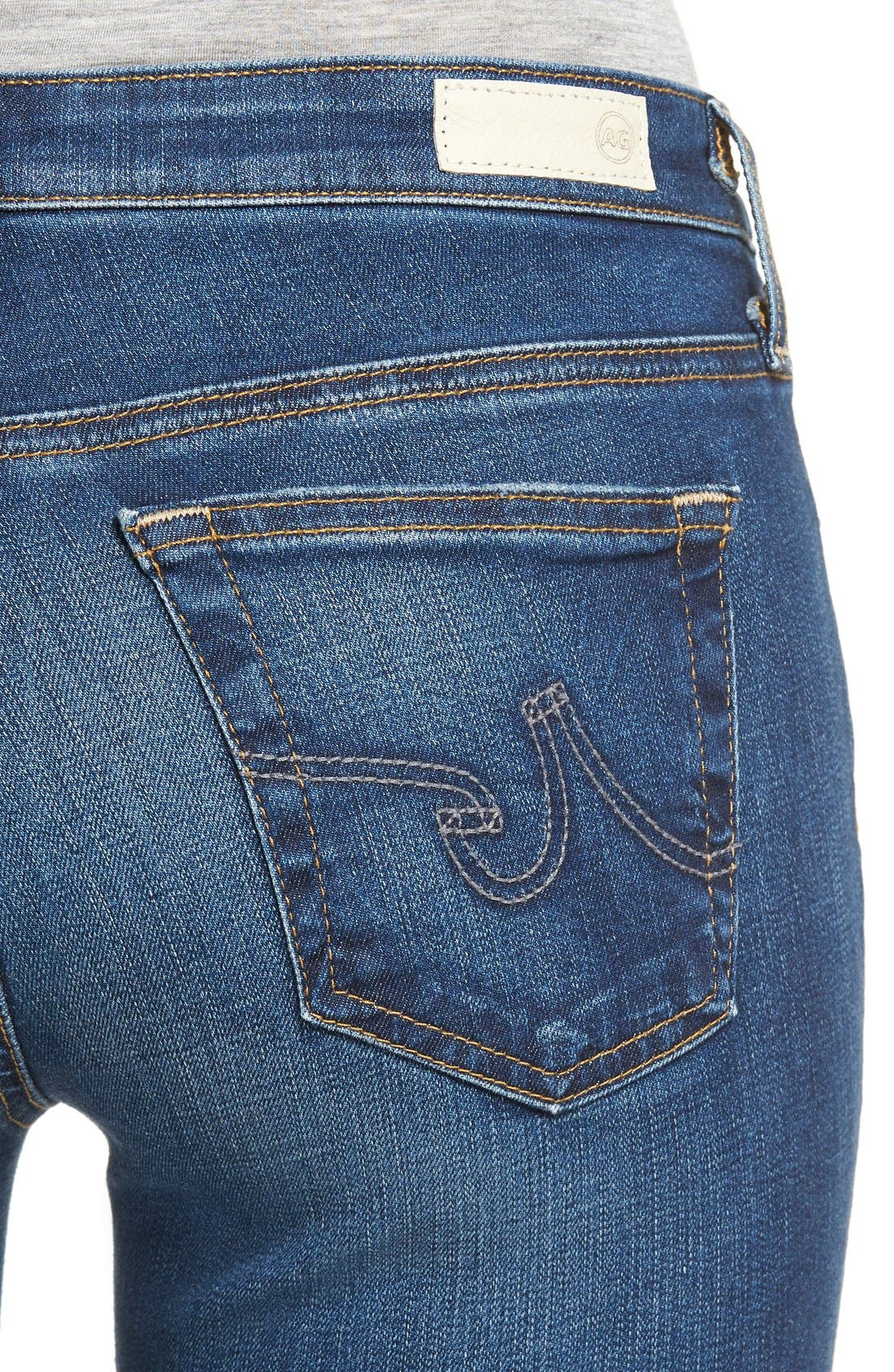 Alternate Image 4  - AG 'The Legging' Ankle Jeans (7 Year Break Me Down)