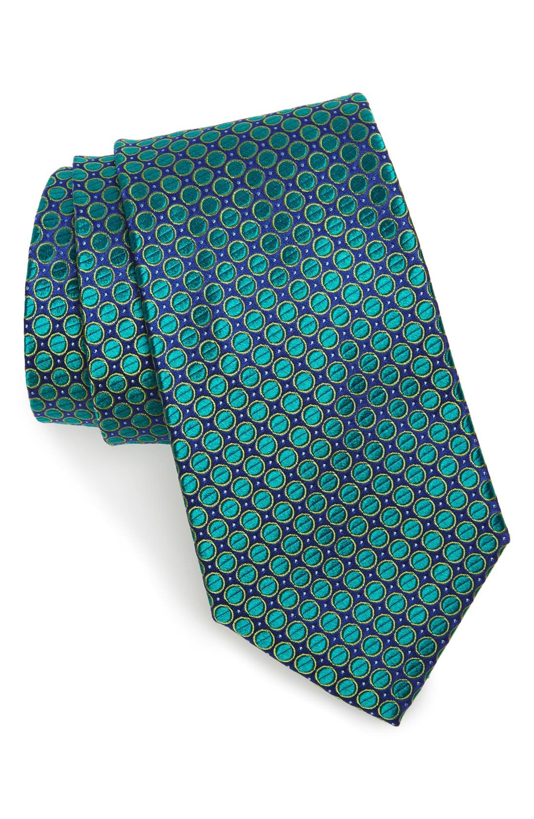 Nordstrom Men's Shop Circle & Dot Silk Tie (X-Long)