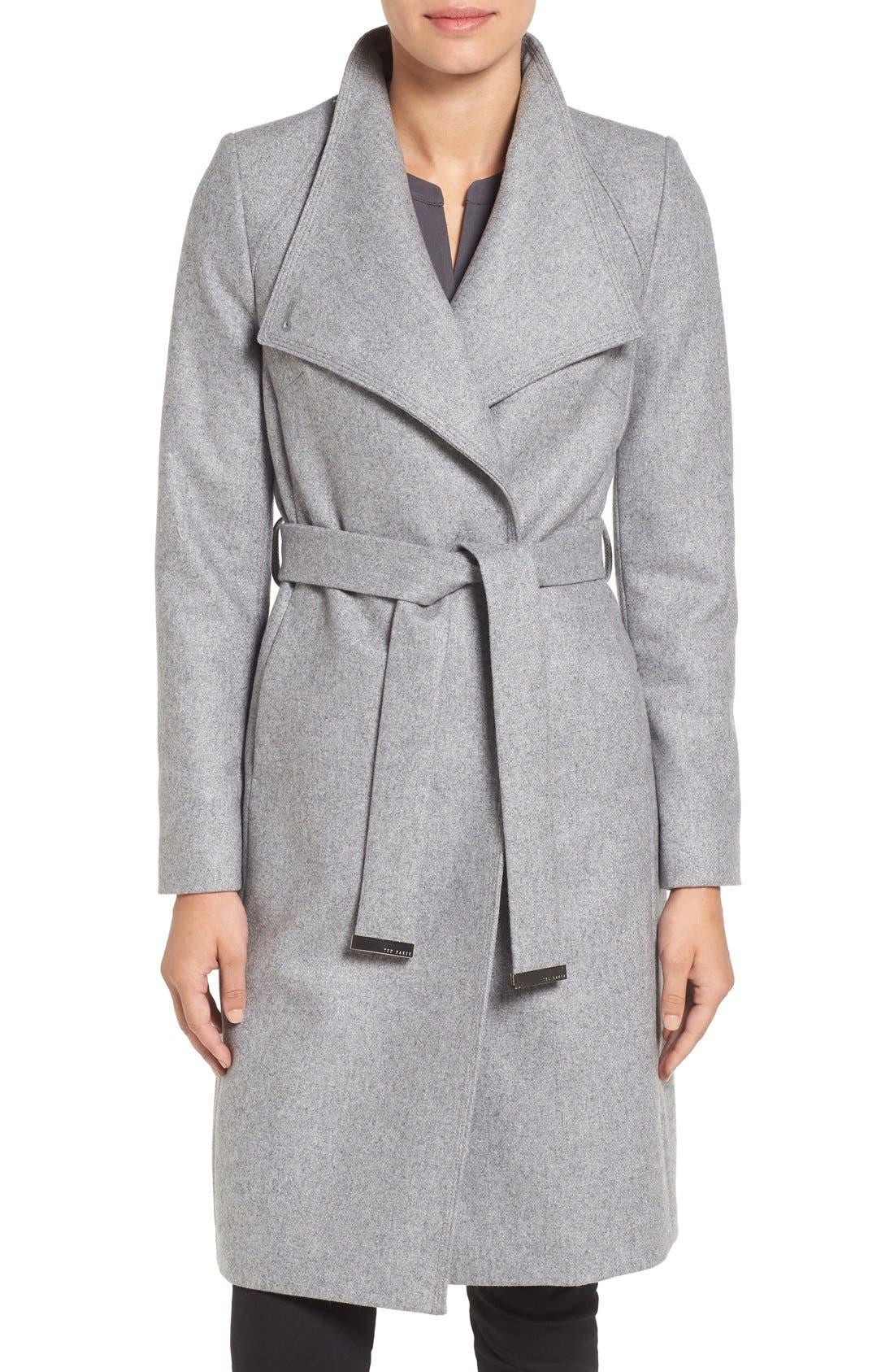 Main Image - Ted Baker London Wrap Coat
