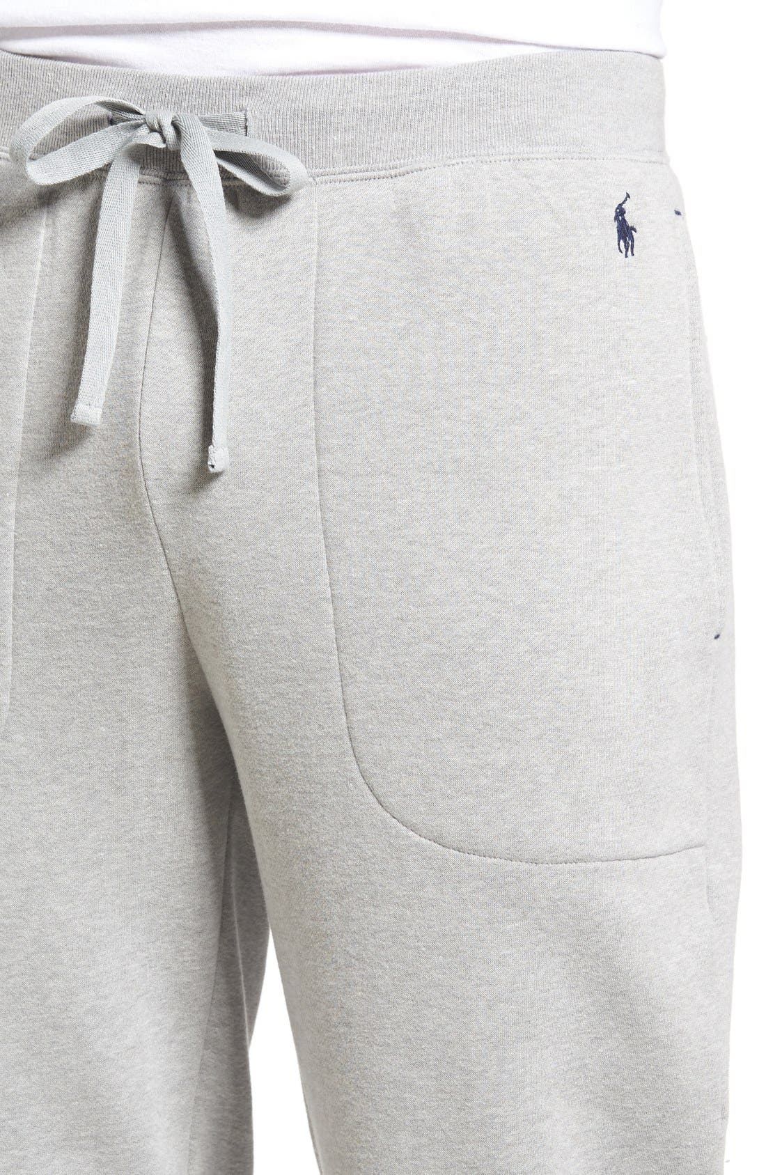 Alternate Image 4  - Polo Ralph Lauren Brushed Jersey Cotton Blend Jogger Pants
