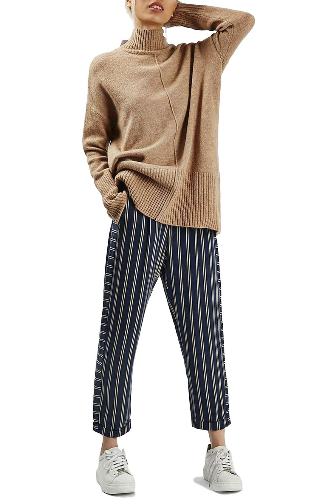 Alternate Image 2  - Topshop Stripe Peg Trousers