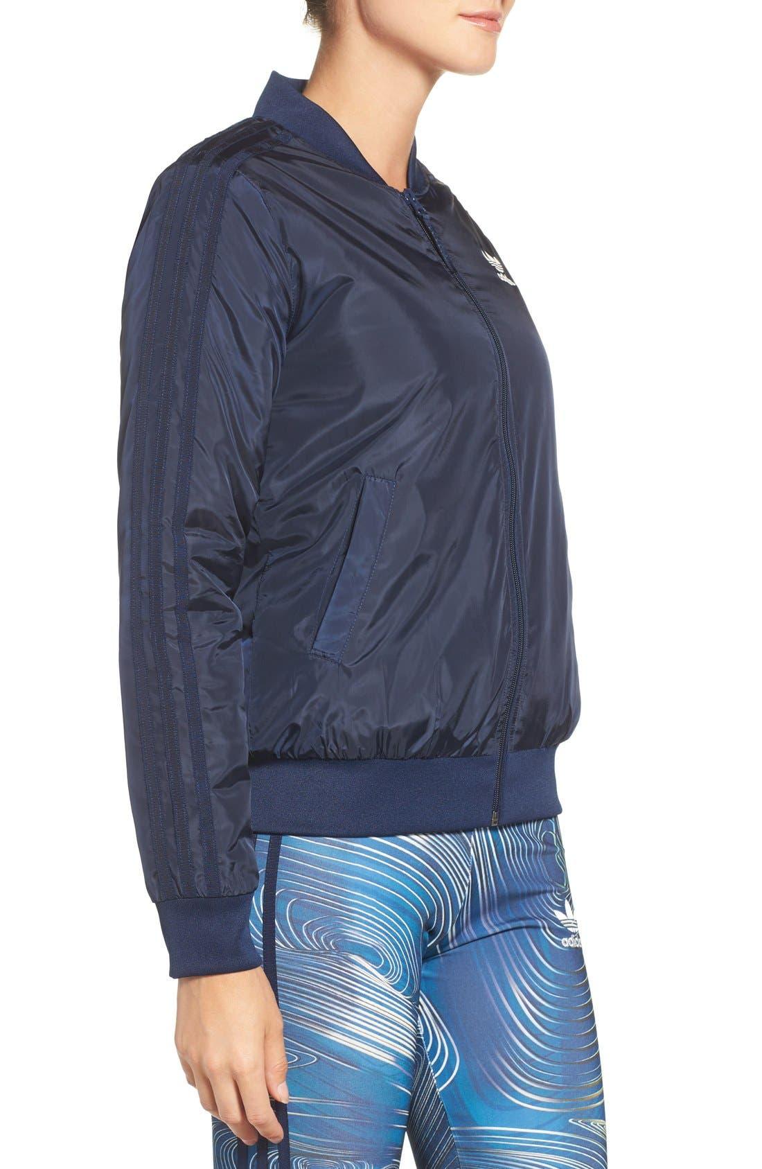 Alternate Image 3  - adidas Originals 'BG' 3-Stripes Bomber Jacket