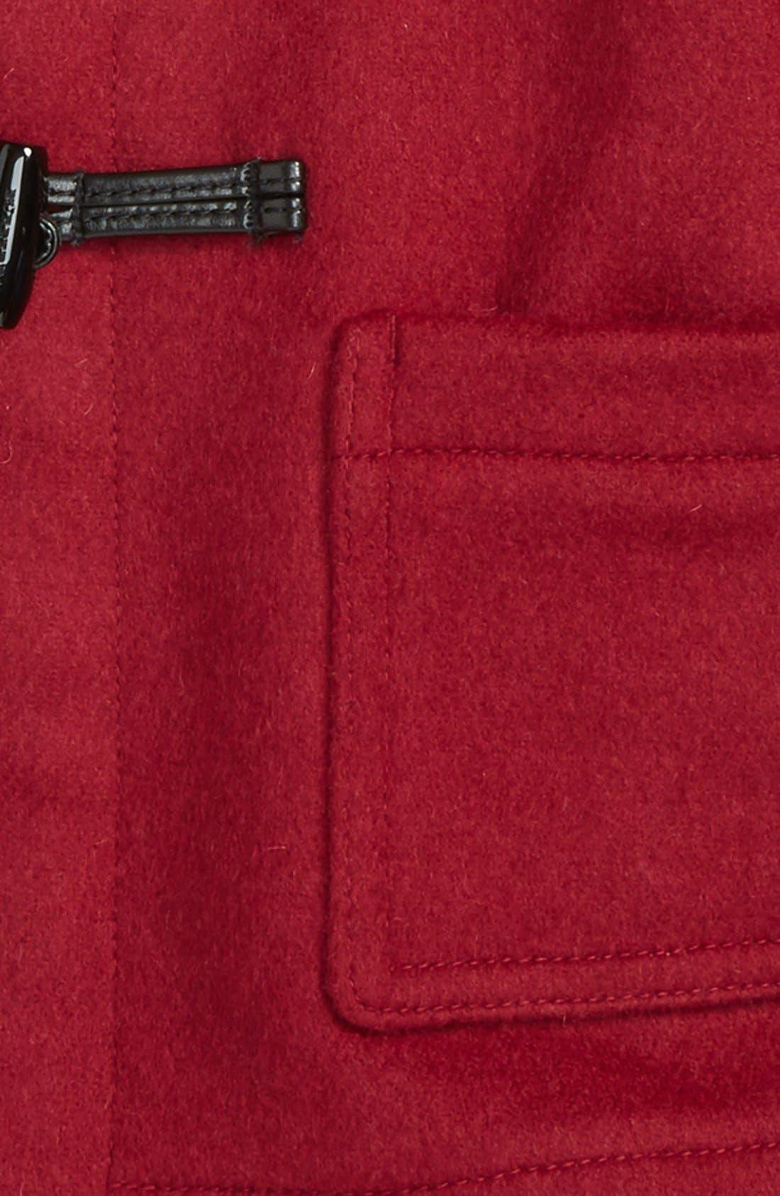 Alternate Image 2  - Burberry 'Brogan' Hooded Wool Toggle Coat (Baby Girls)