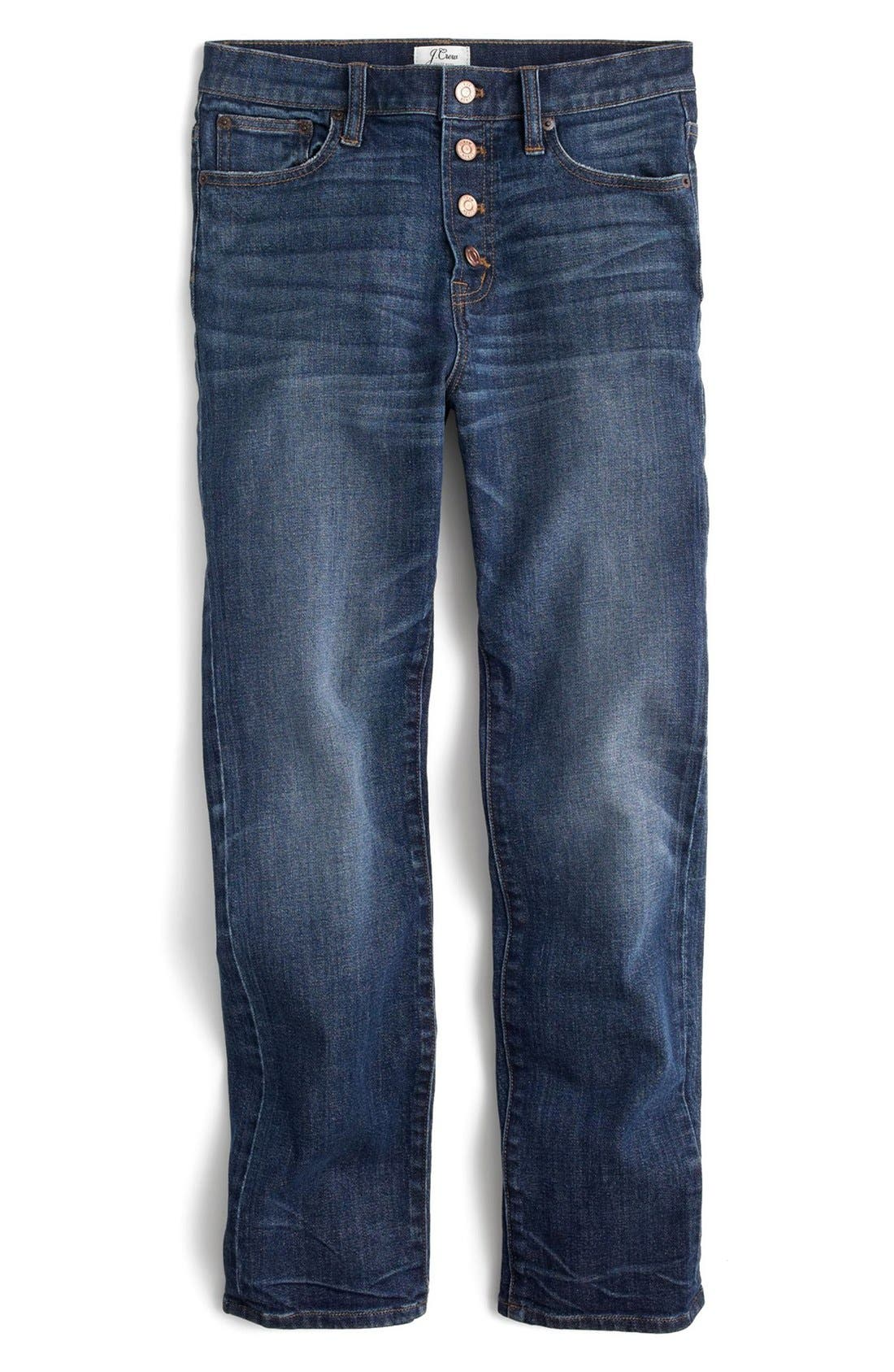 Alternate Image 3  - J.Crew 'Straight Away' Stretch High Rise Crop Jeans