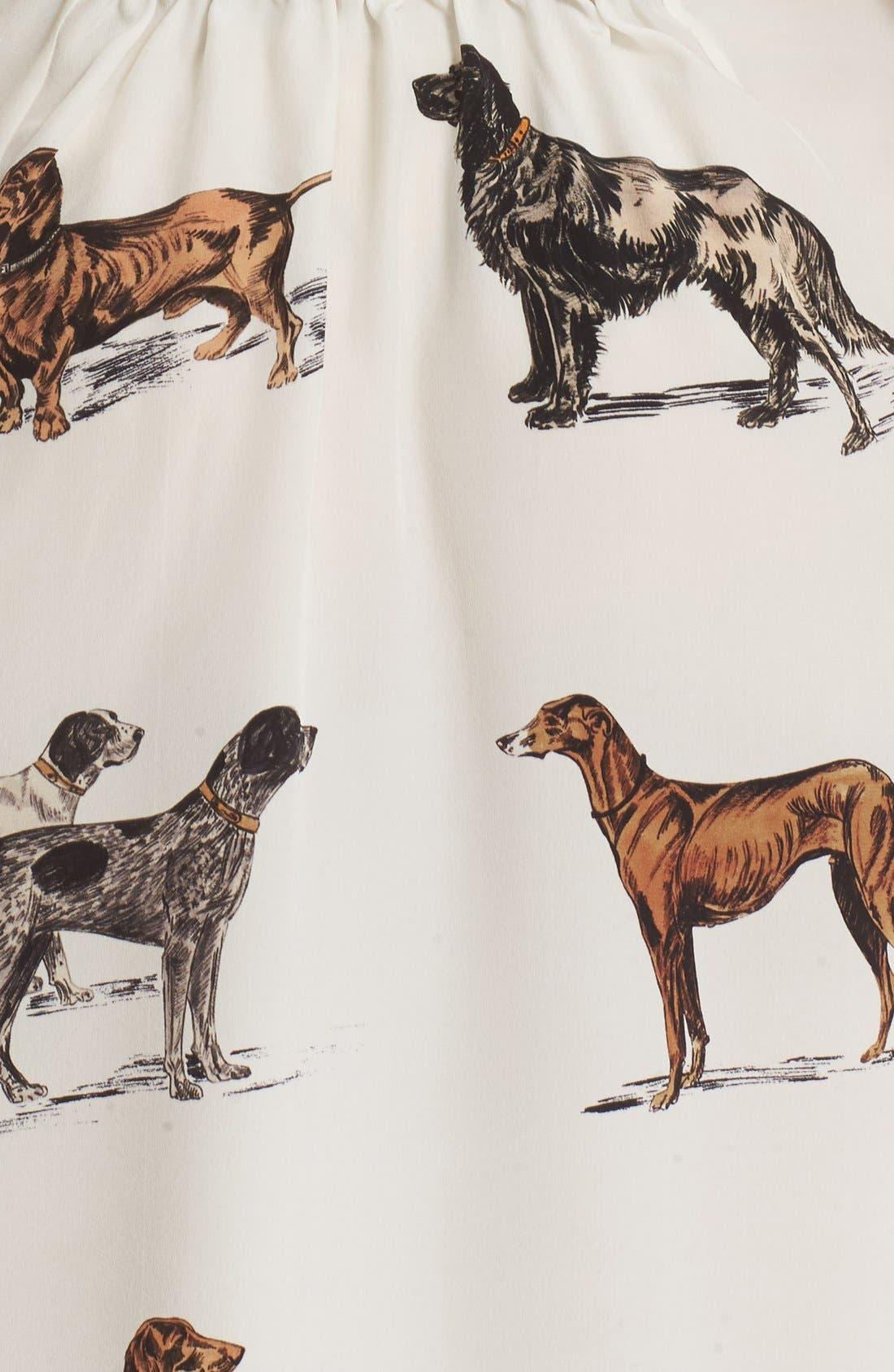 Alternate Image 3  - Stella McCartney Dog Print Silk Dress