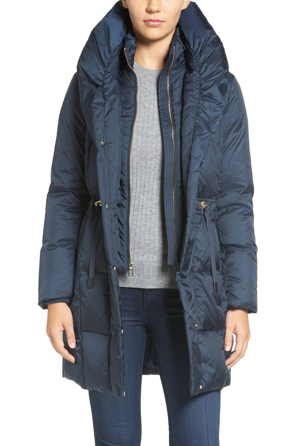 Alternate Image 1 Selected - Cole Haan Shawl Collar Down Coat