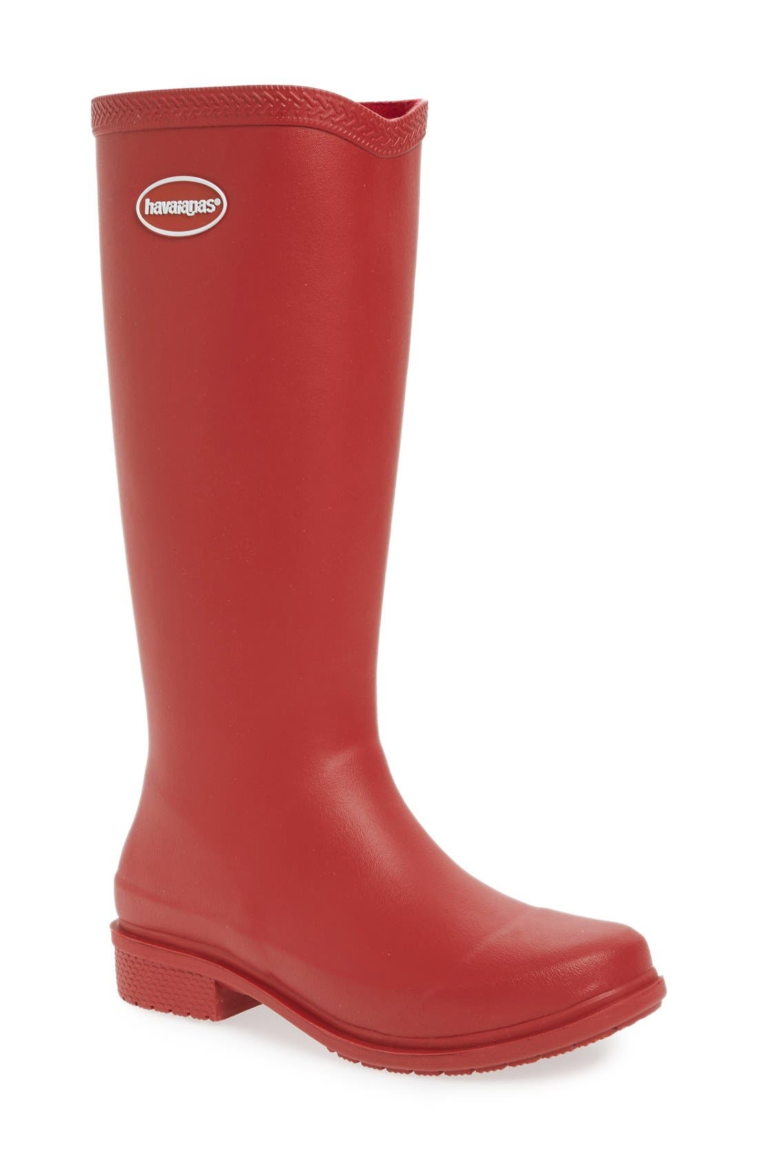 Havaianas 'Galochas Hi Matte' Waterproof Rain Boot (Women) (Wide Calf)