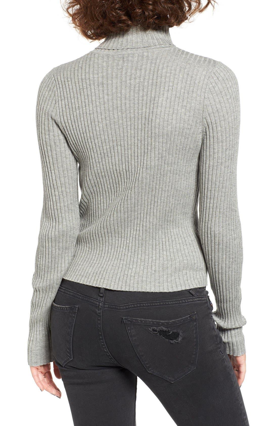Alternate Image 2  - BP. Rib Knit Turtleneck Sweater
