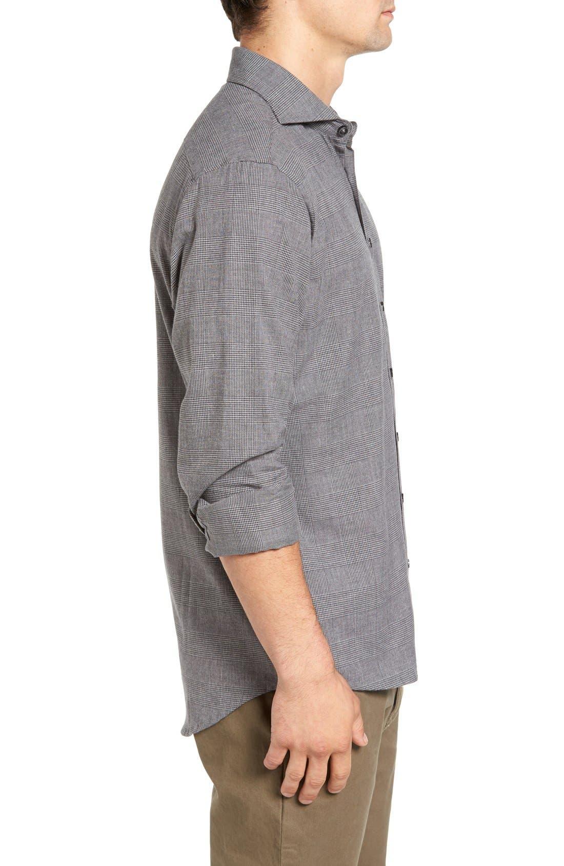 Alternate Image 3  - Singer + Sargent Regular Fit Glen Plaid Sport Shirt