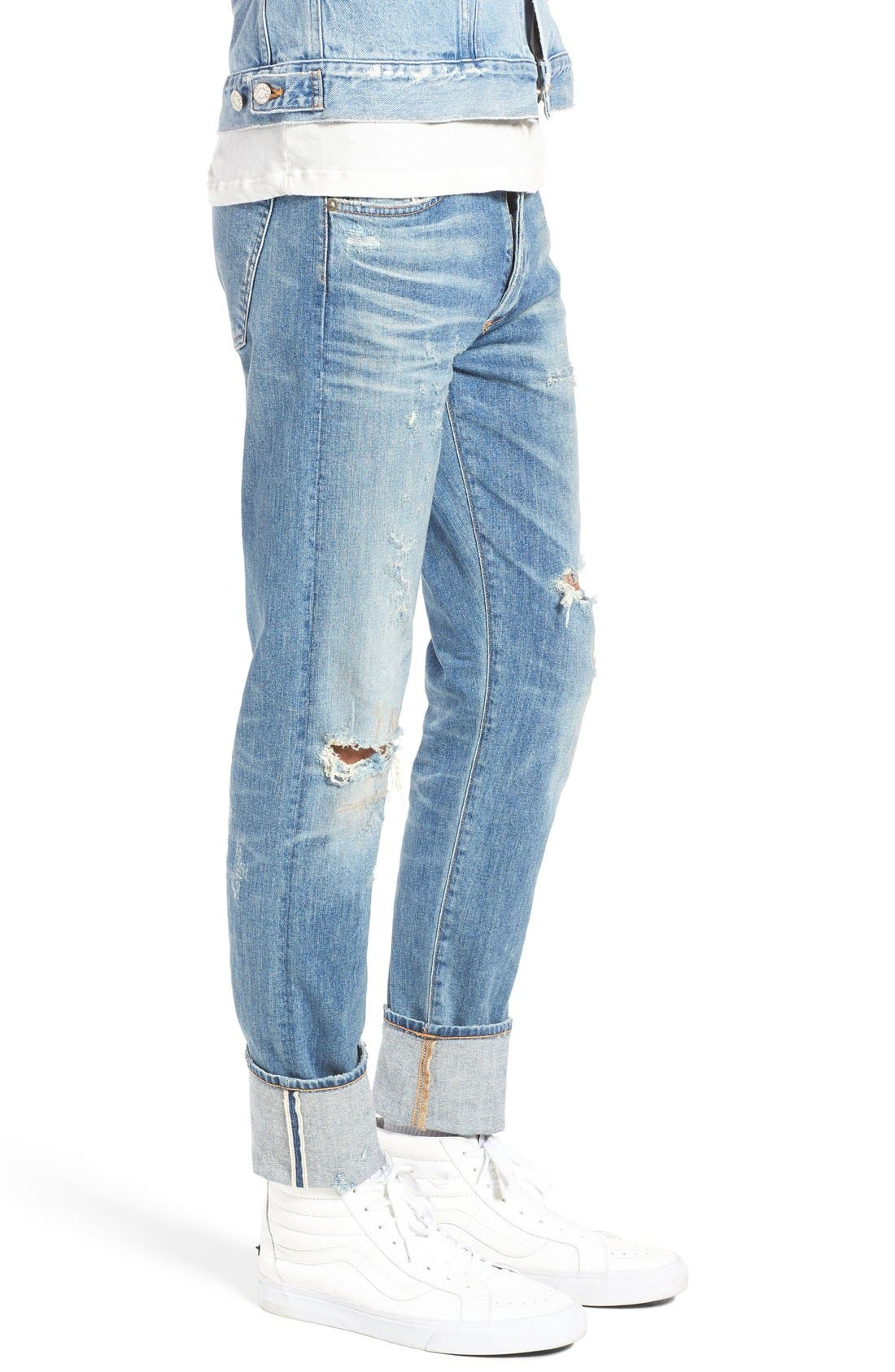 Alternate Image 3  - AGOLDE Skinny Fit Distressed Jeans (H-Town) (Men)