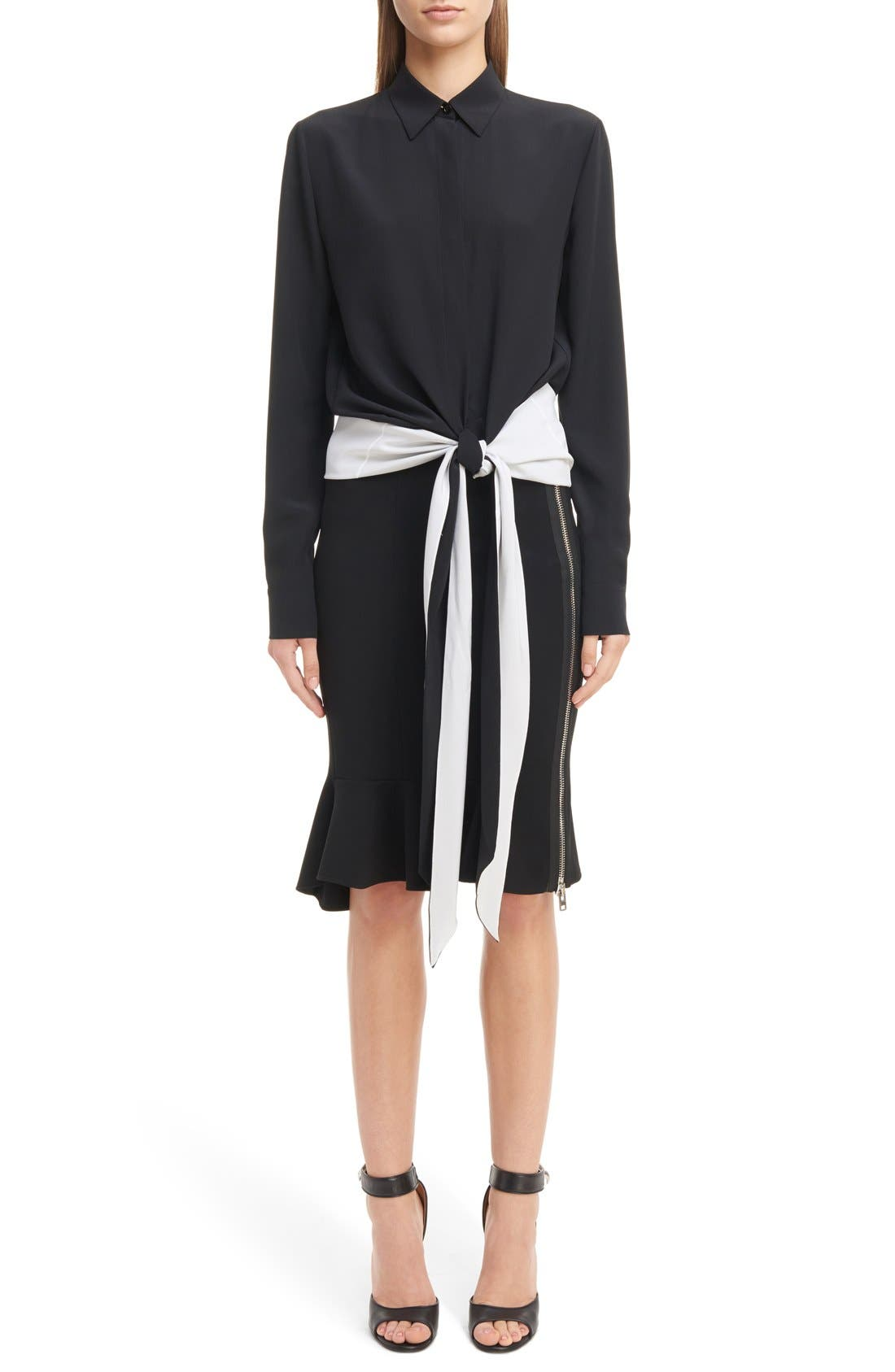 Alternate Image 7  - Givenchy Side Zip Crepe Jersey Skirt