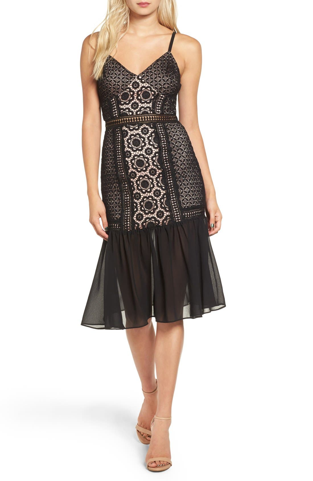 Alternate Image 1 Selected - Glamorous Lace Midi Dress