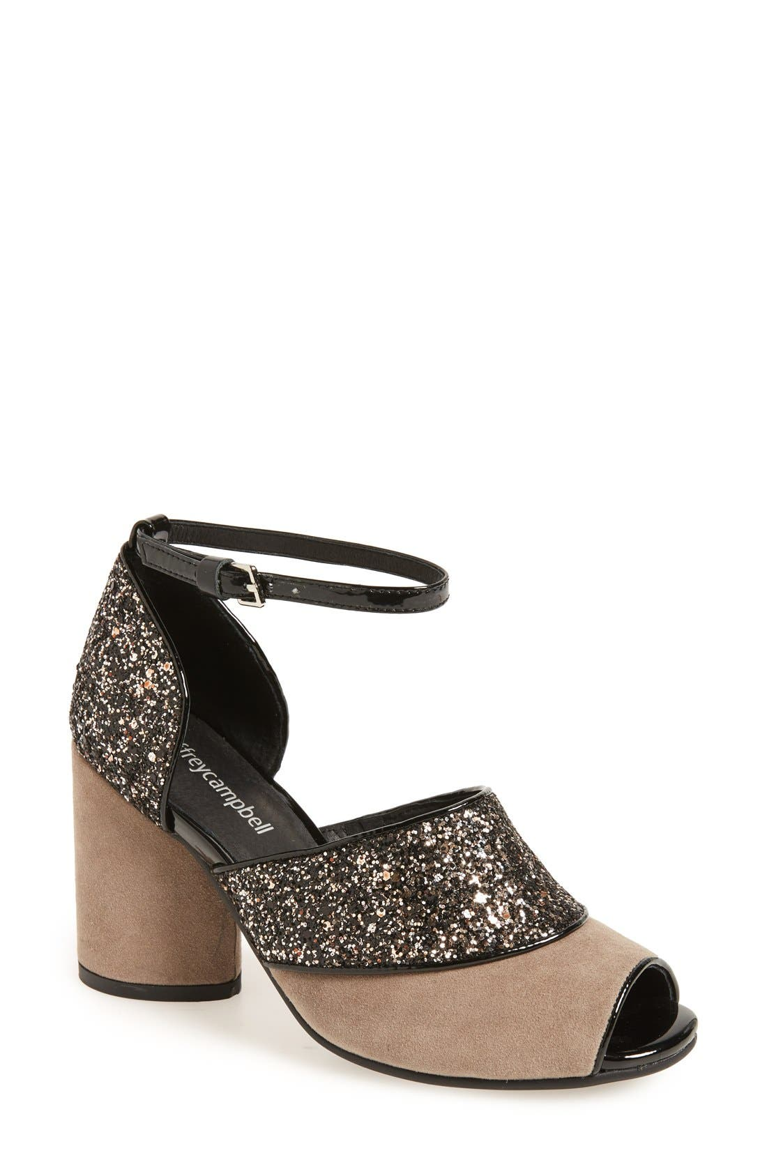 Alternate Image 1 Selected - Jeffrey Campbell 'Bibana' Glitter Sandal (Women)