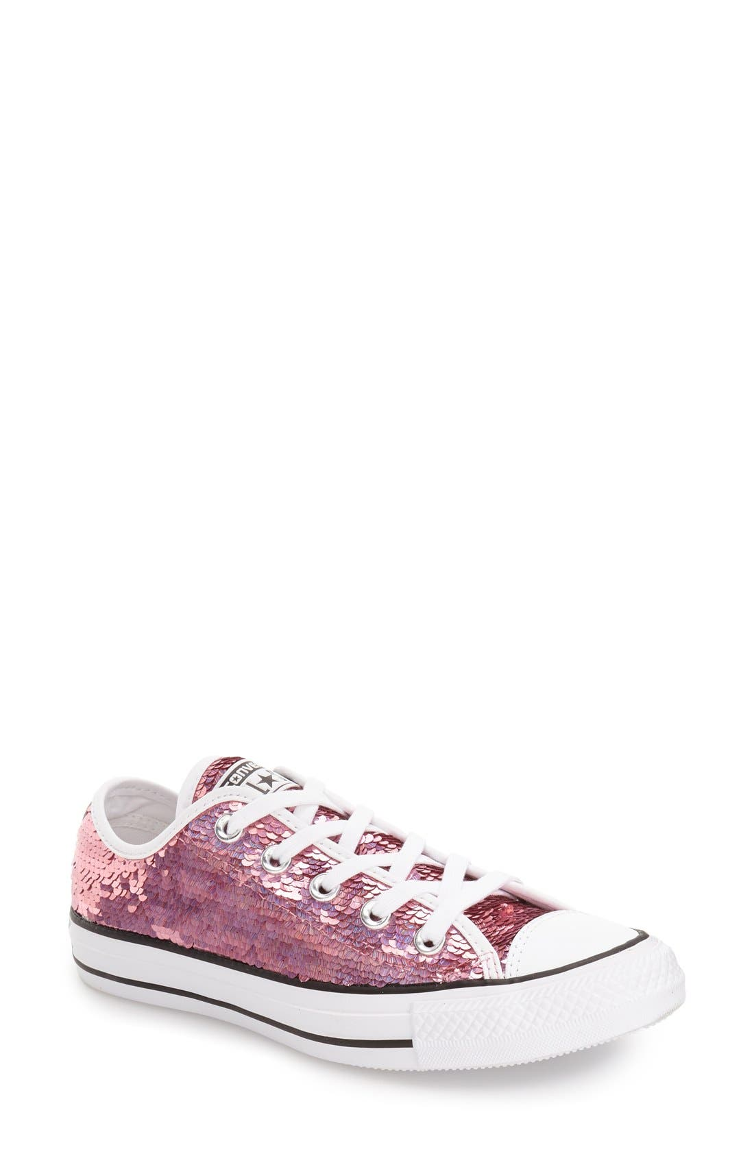 Alternate Image 1 Selected - Converse Chuck Taylor® All Star® 'Holiday Party' Low Top Sequined Sneaker (Women)