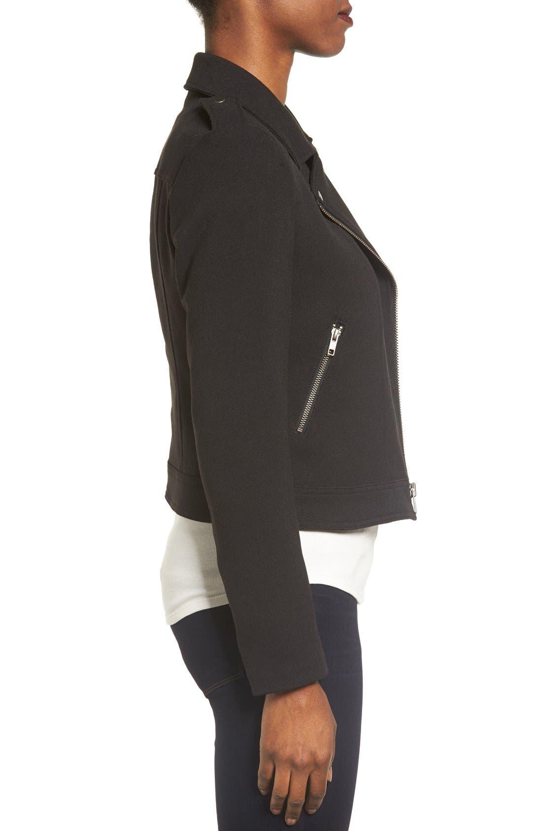 Alternate Image 3  - Catherine Catherine Malandrino Knit Moto Jacket
