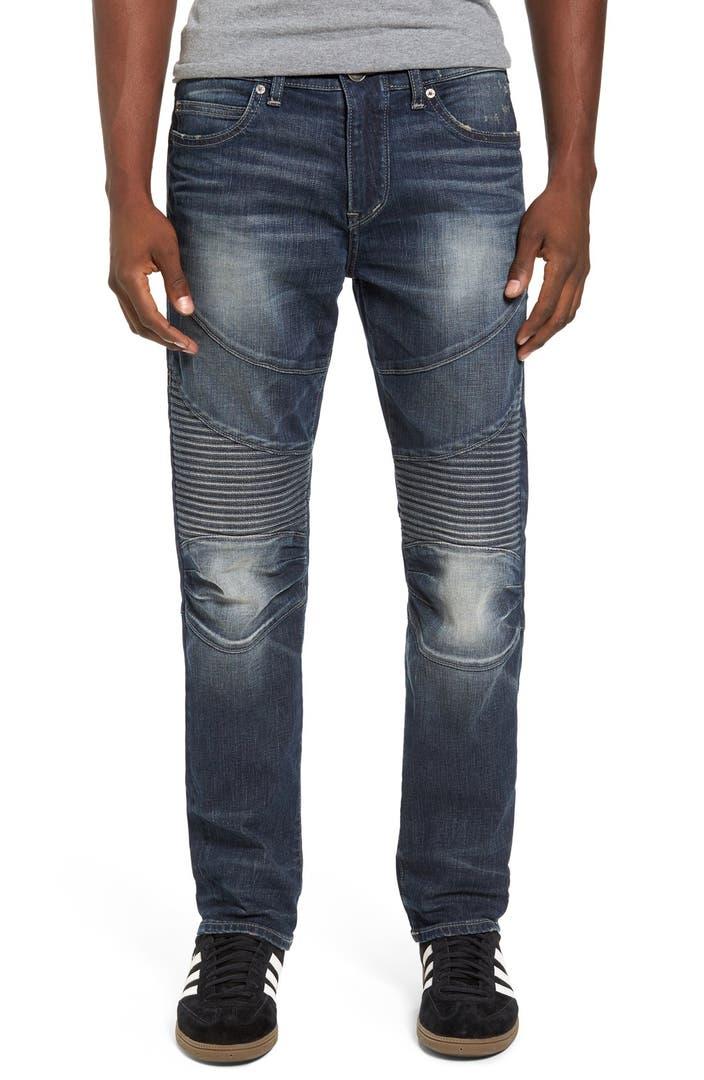 true religion brand jeans geno slim fit moto jeans urban. Black Bedroom Furniture Sets. Home Design Ideas