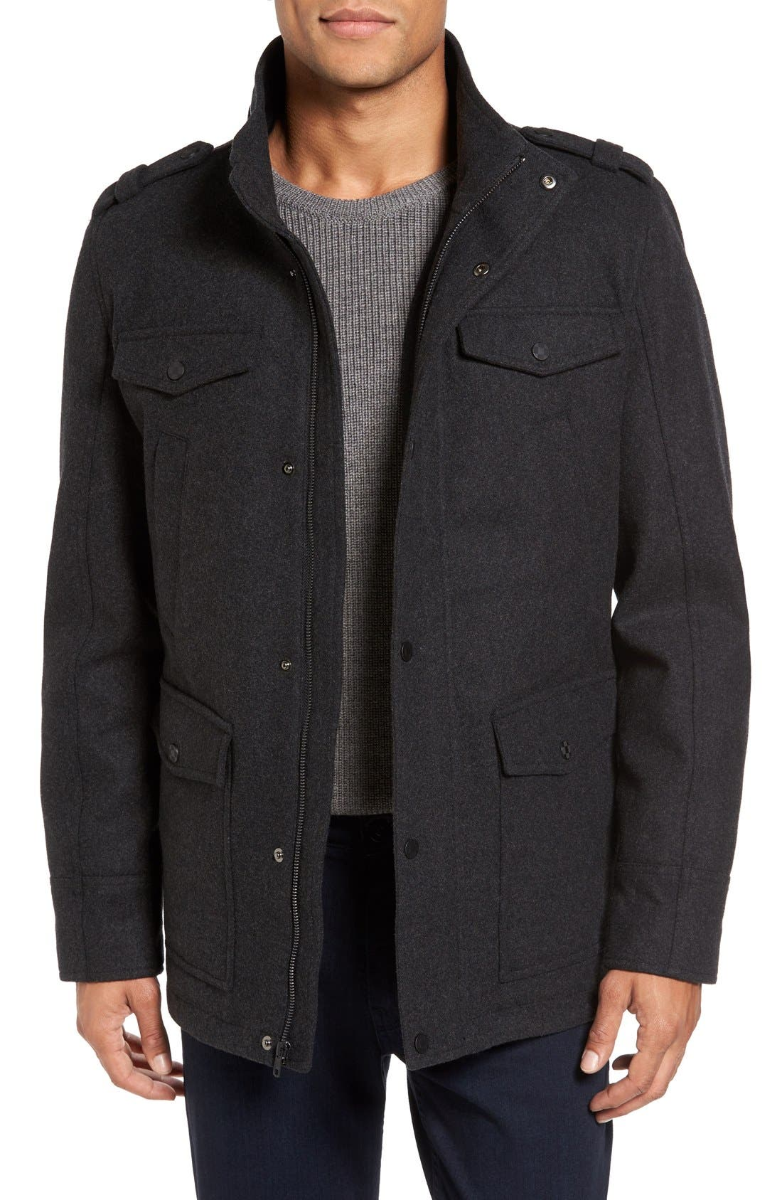 Alternate Image 4  - Vince Camuto Austin Wool Blend Military Coat