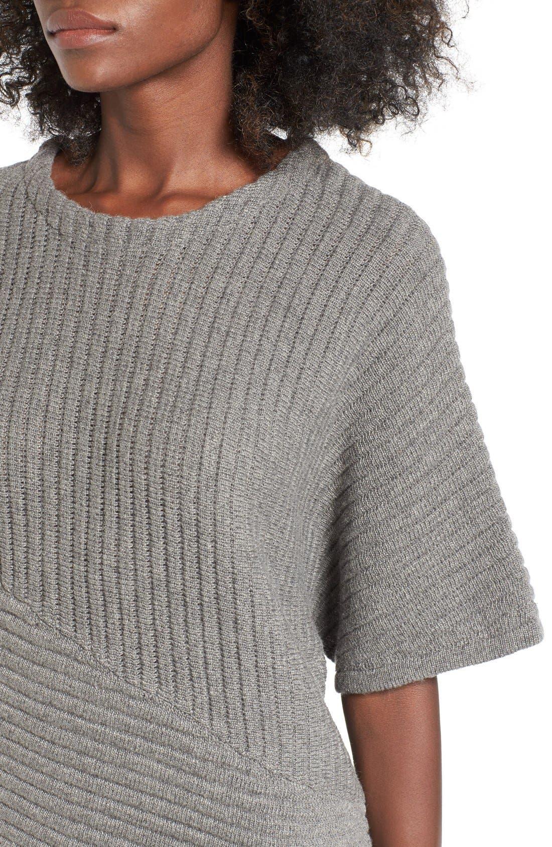 Alternate Image 4  - ASTR Ribbed Sweater Dress